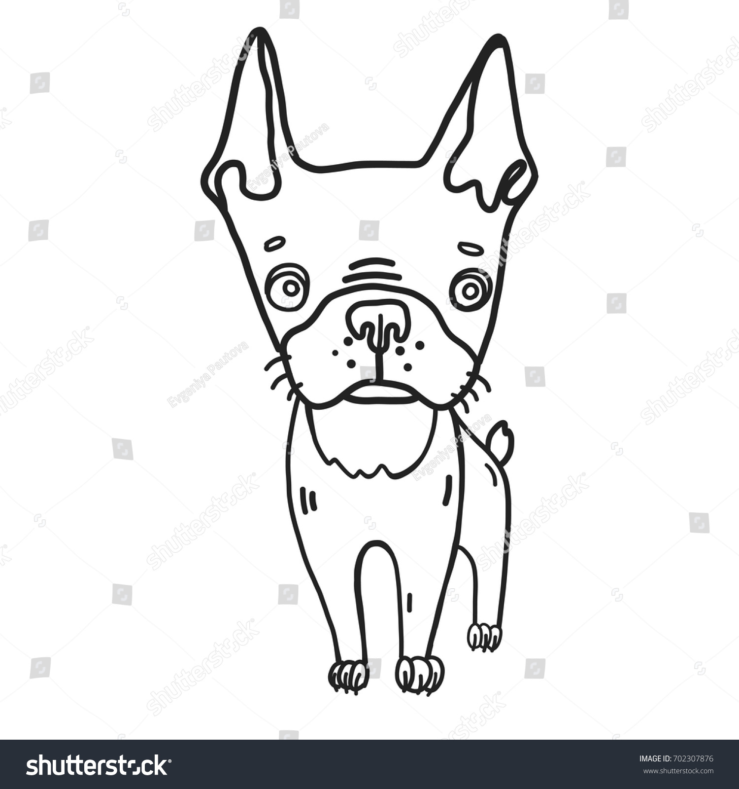 Hand Drawn Vector Illustrated Coloring Page Stock Vector (Royalty ...