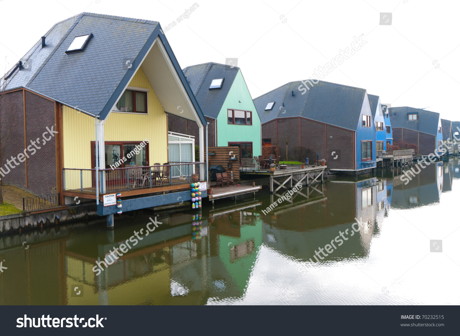 Colorful Houses At The Island District, Almere, The ... Colorful Almere