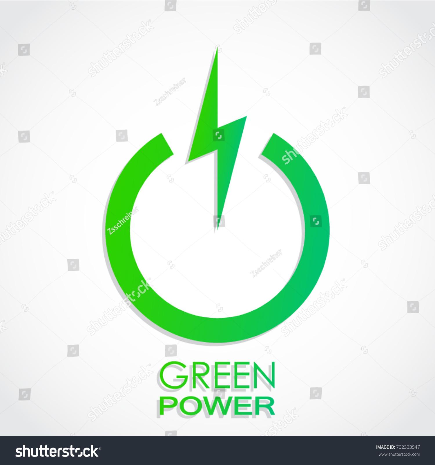 Green Power Symbol Stock Vector Royalty Free 702333547 Shutterstock