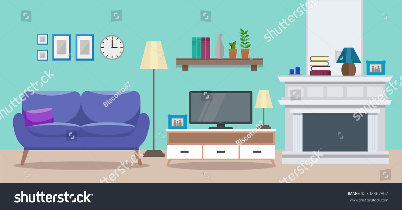 cozy interior modern elegant living room のベクター画像素材