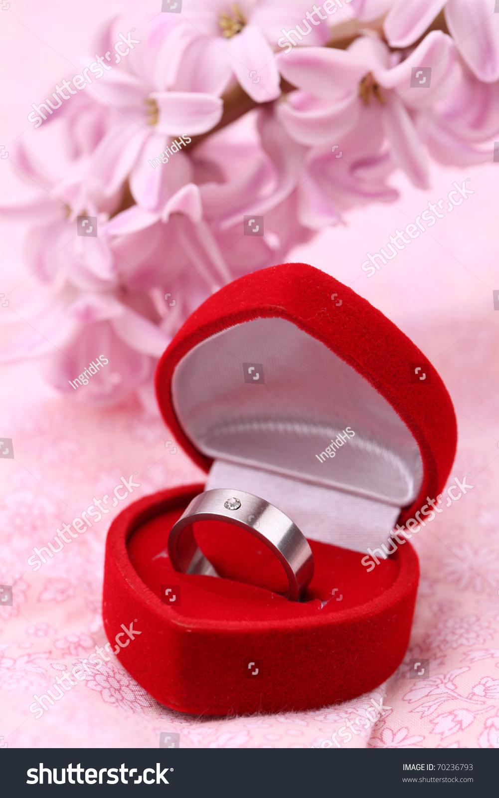 Titanium Engagement Ring Diamond Heart Shaped Stock Photo (Edit Now ...