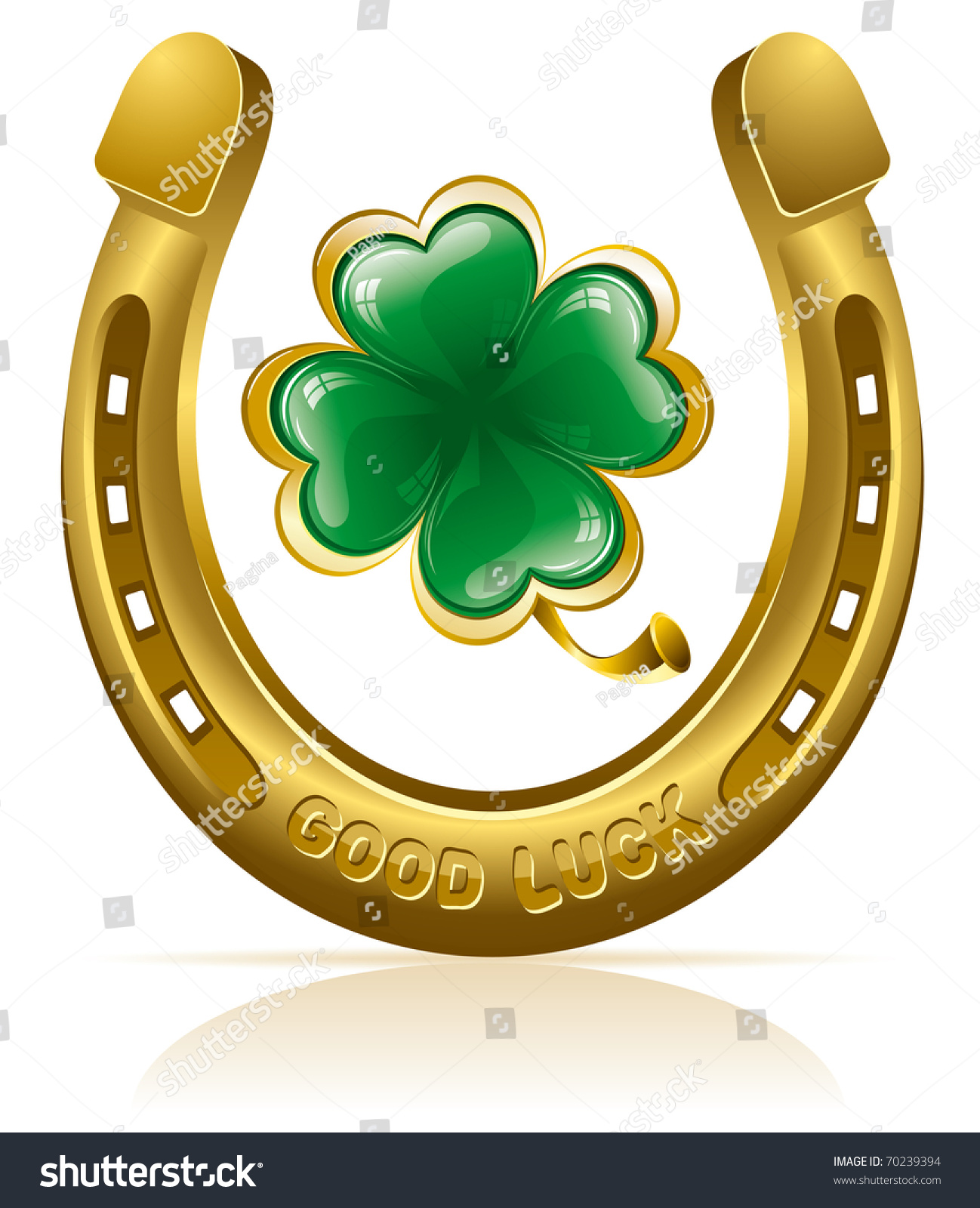 Uncategorized Lucky Symbol horseshoe four leaf clover lucky symbol stock vector 70239394 and symbol