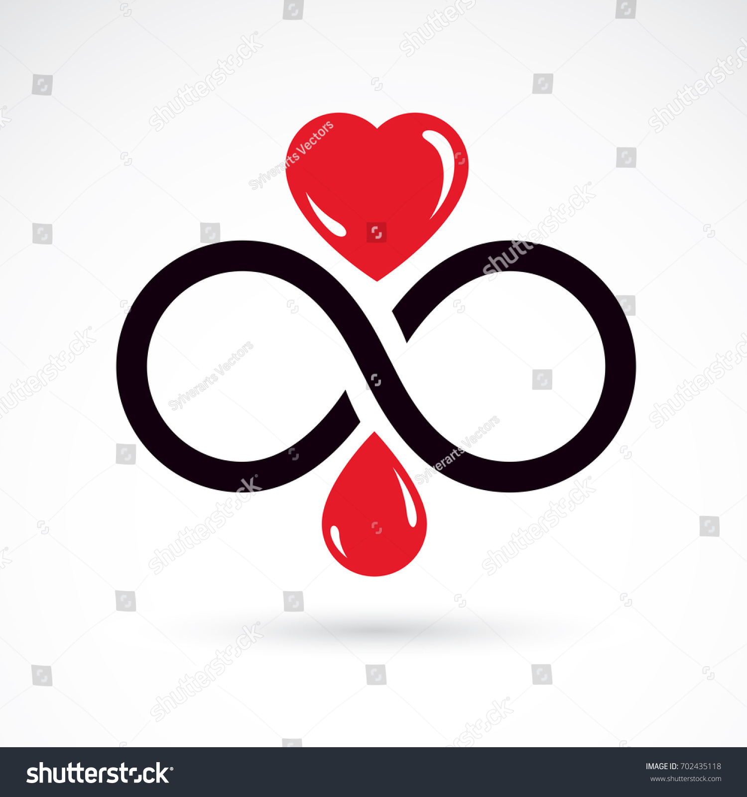Illustration Heart Shape Infinity Symbol Hematology Stock