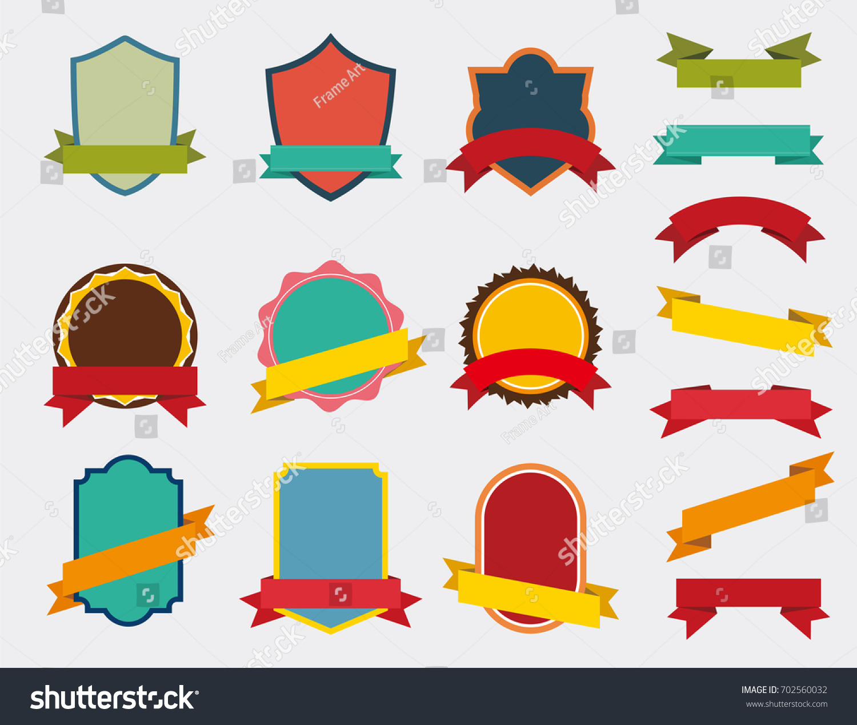 Badge Website set vector badge ribbon retro labels stock vector 2018 702560032