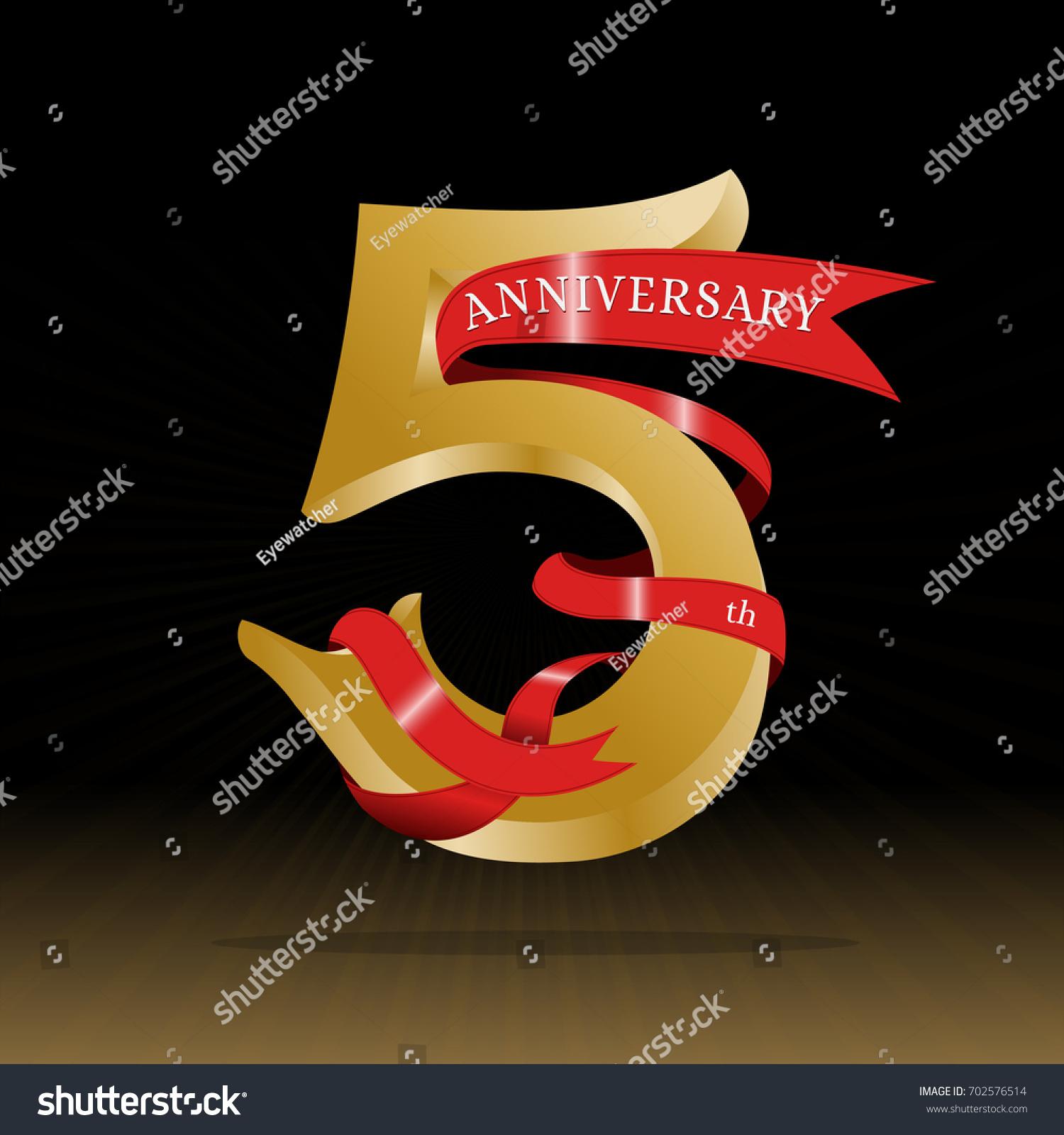 5th Anniversary Symbol Vector Stock Vector 702576514 Shutterstock