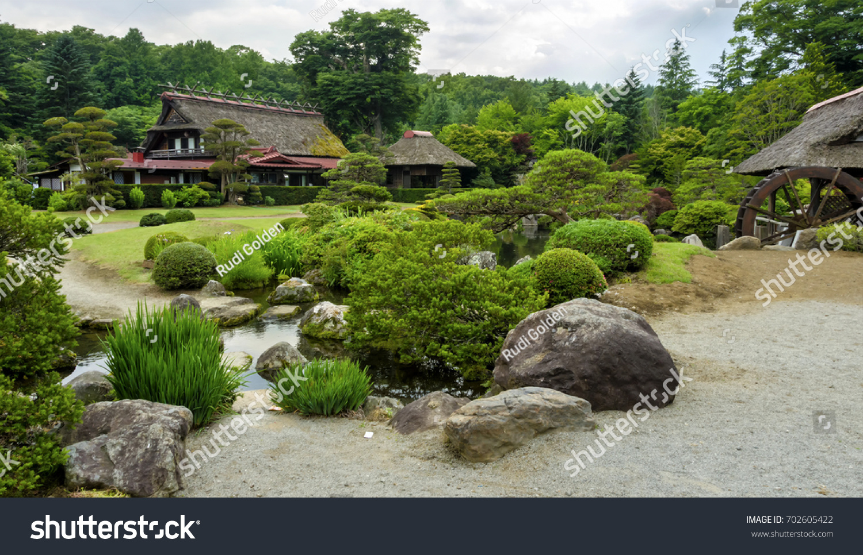 Japanese Zen Garden Near Ashino Hakkai Stock Photo Edit Now 702605422