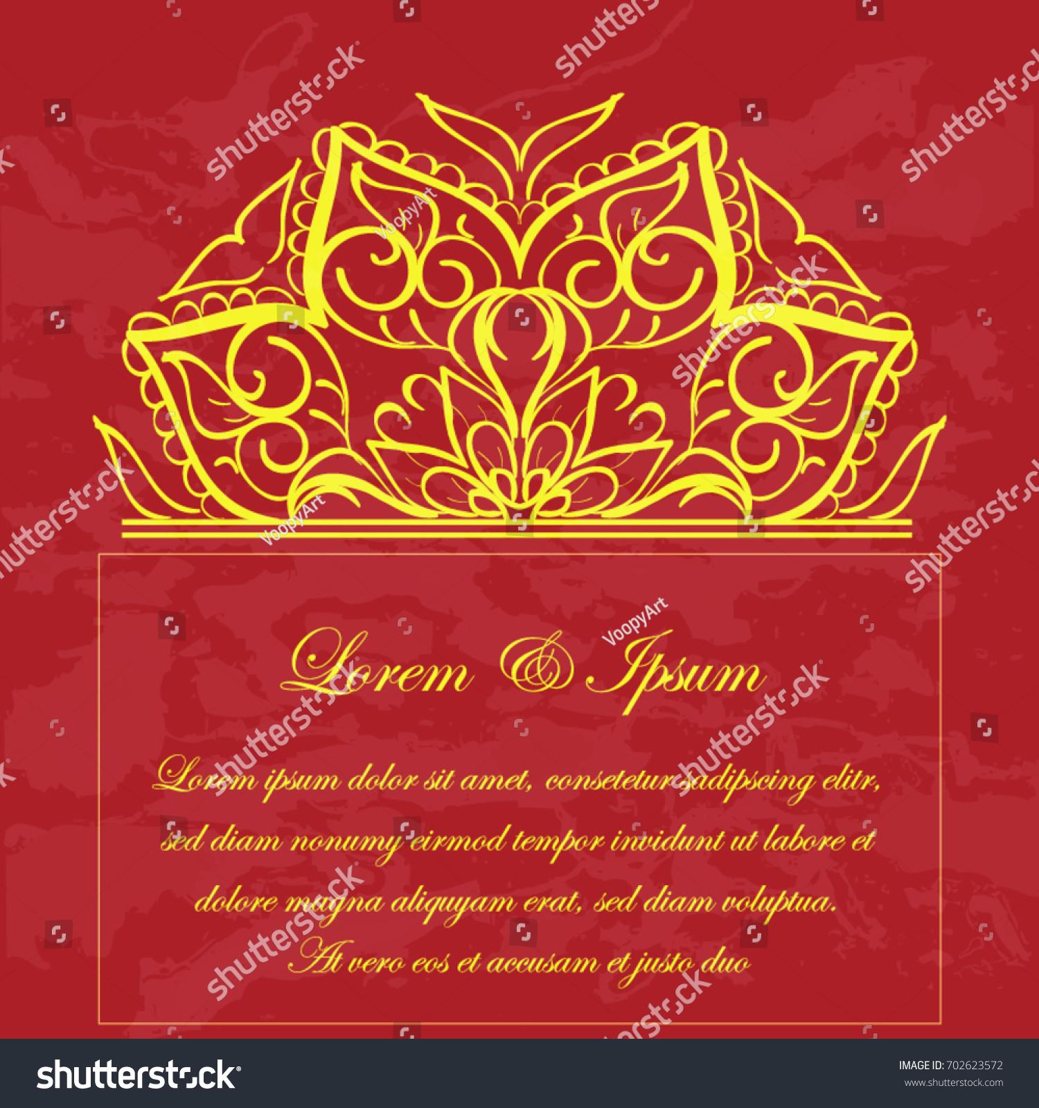Invitation Elegant Wedding Card Mahdi Mandala Stock Vector (Royalty ...