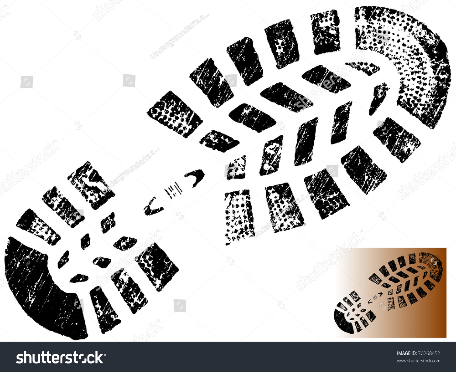 Gallery For &gt Boot Print Scattered Clipart