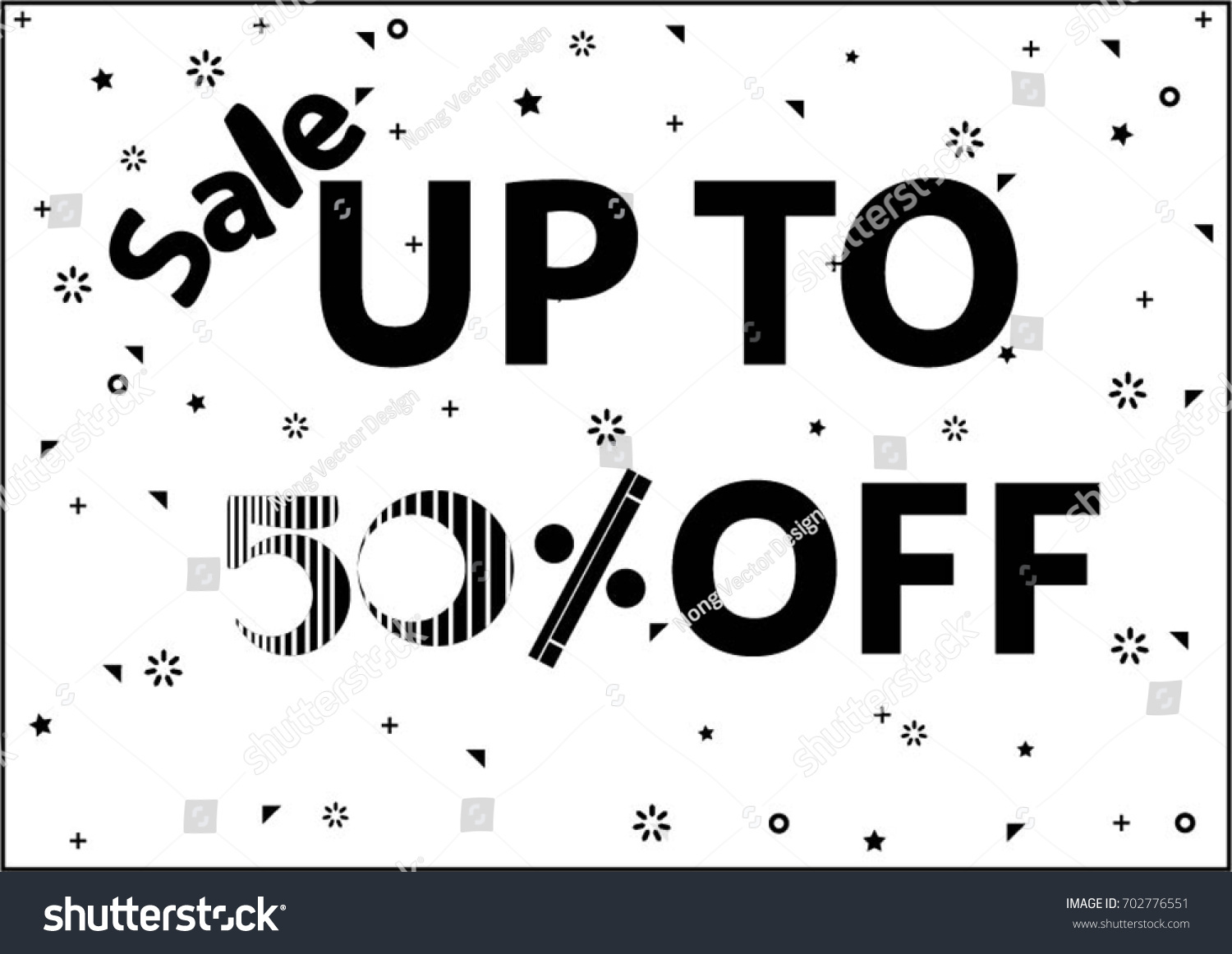 Sale Banner Design Template On White Stock Vector 702776551 ...