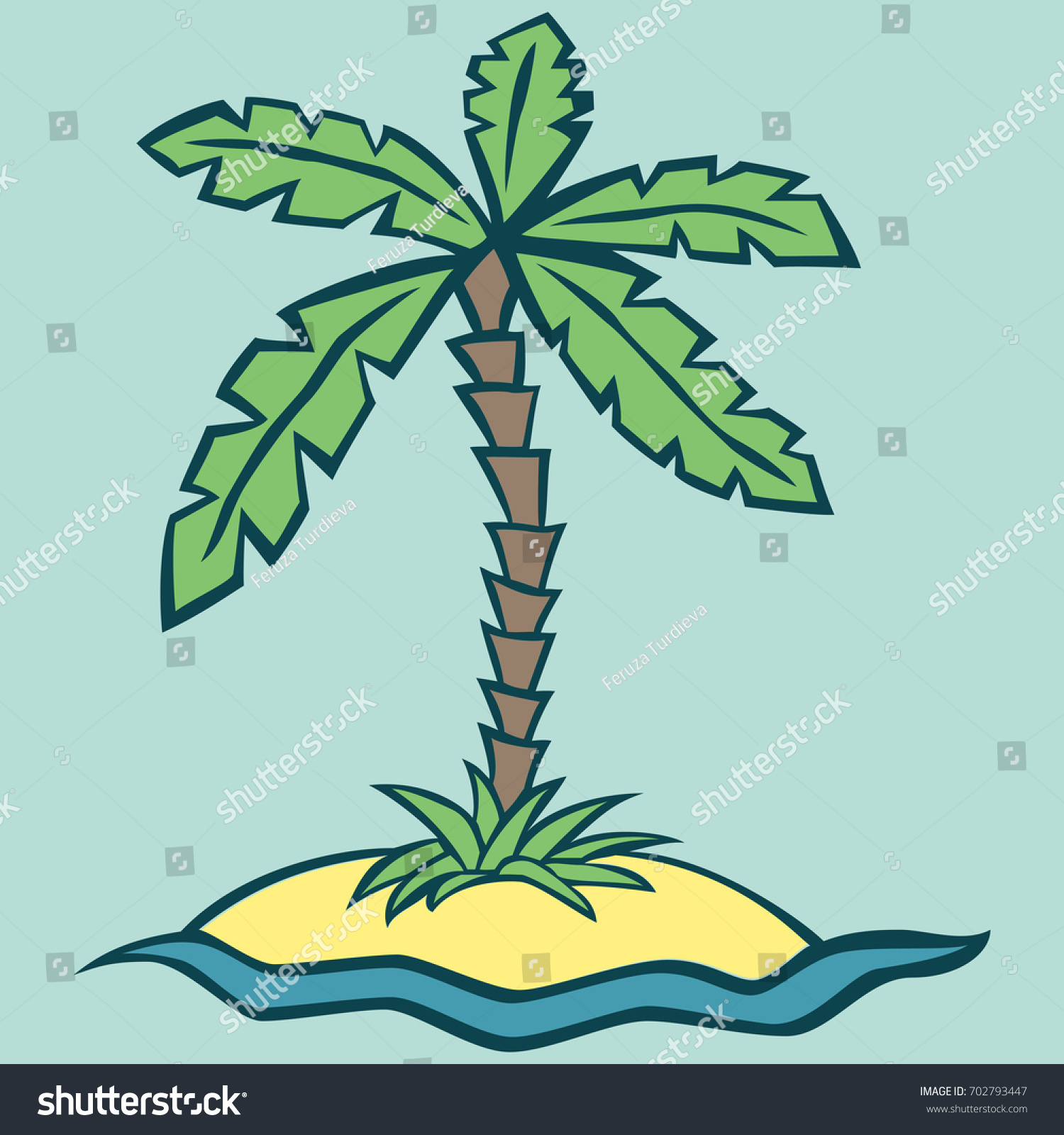 Drawing Island Style Childrens Coloring Pages Stock Vector HD ...