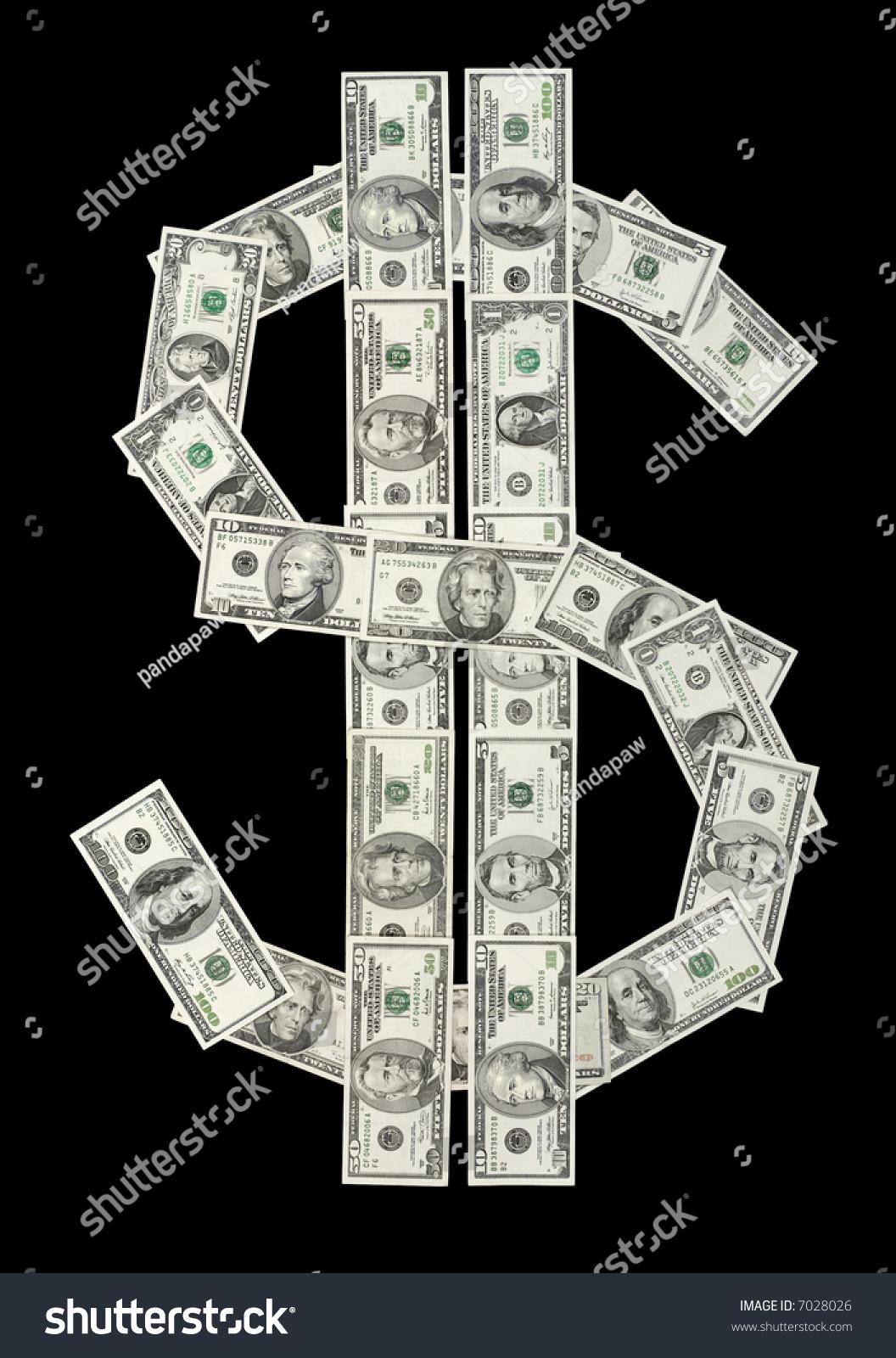 Us Dollar Symbol Made Various Dollar Stock Photo Edit Now 7028026