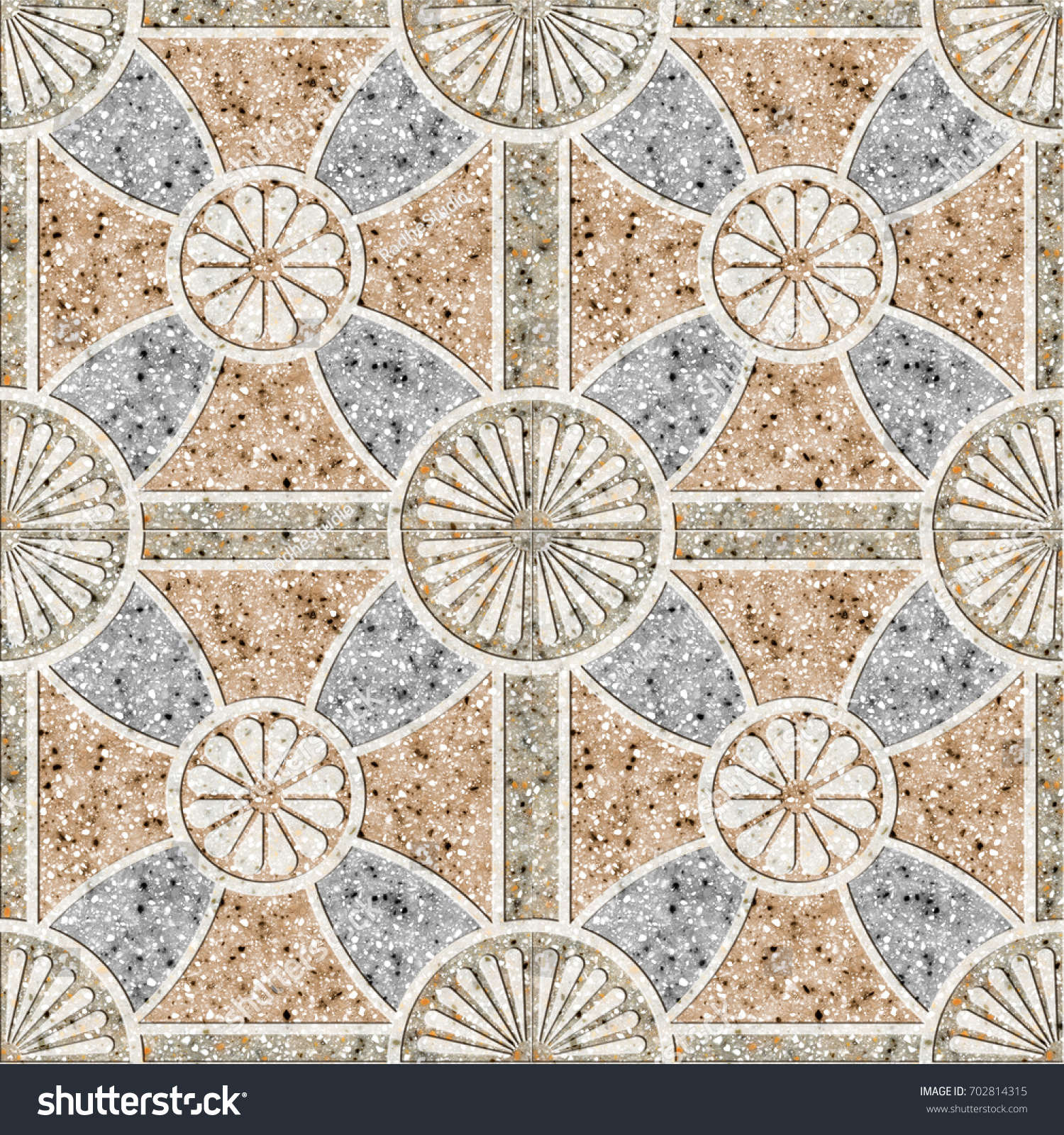 Marble mosaic floor tiles geometric square stock illustration marble mosaic floor tiles geometric square pattern wall tiles dailygadgetfo Image collections