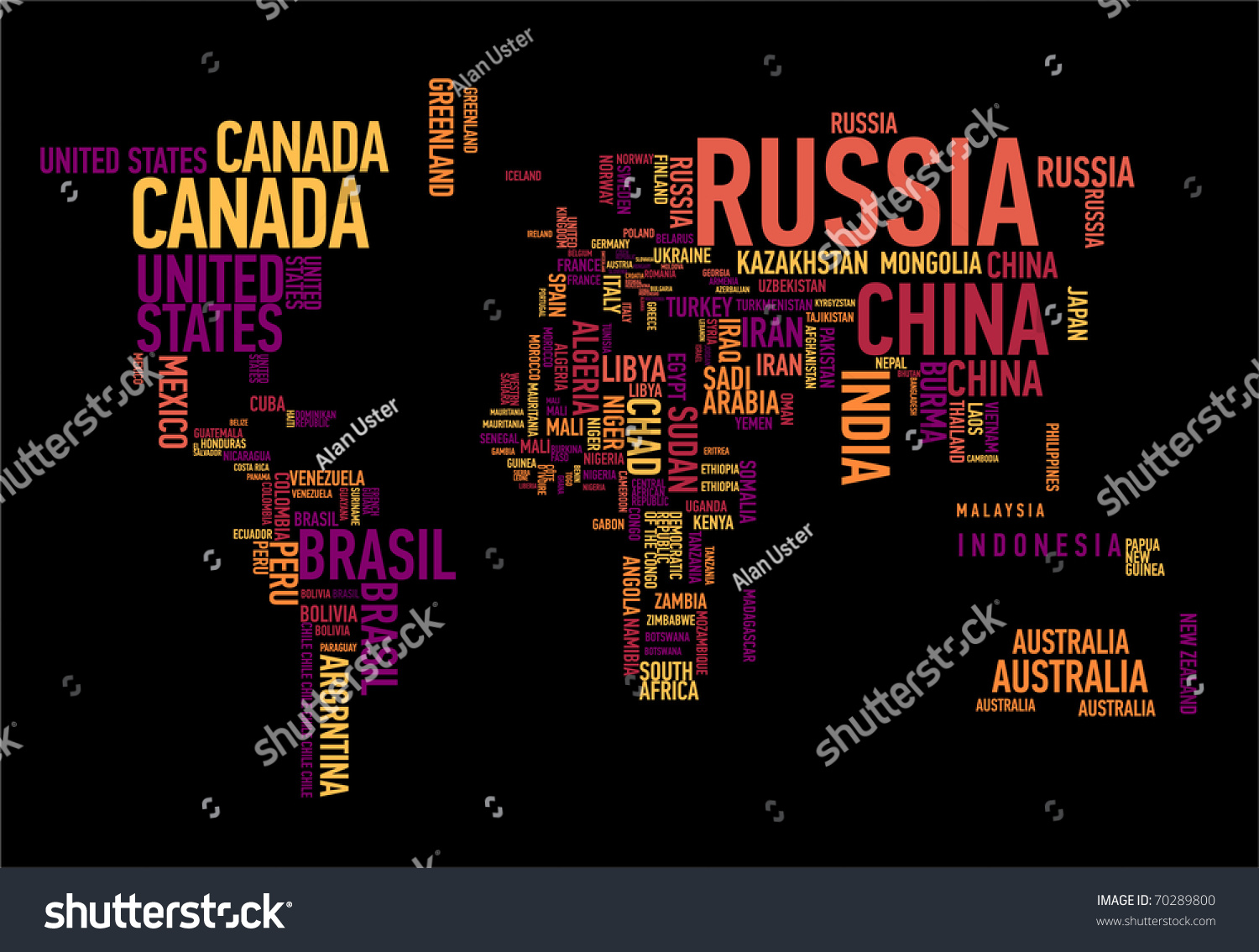 World map countries wordcloud stock vector 70289800 shutterstock world map countries in wordcloud gumiabroncs Choice Image