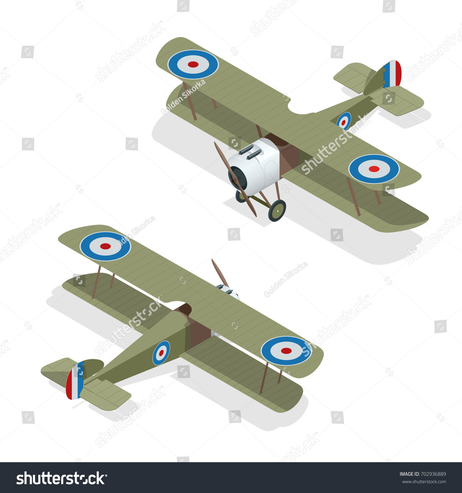 Small Airplane Diagram Schematics Wiring Diagrams Parts Of A Plane Isometric Vector Old Biplane Vectores En Drawing