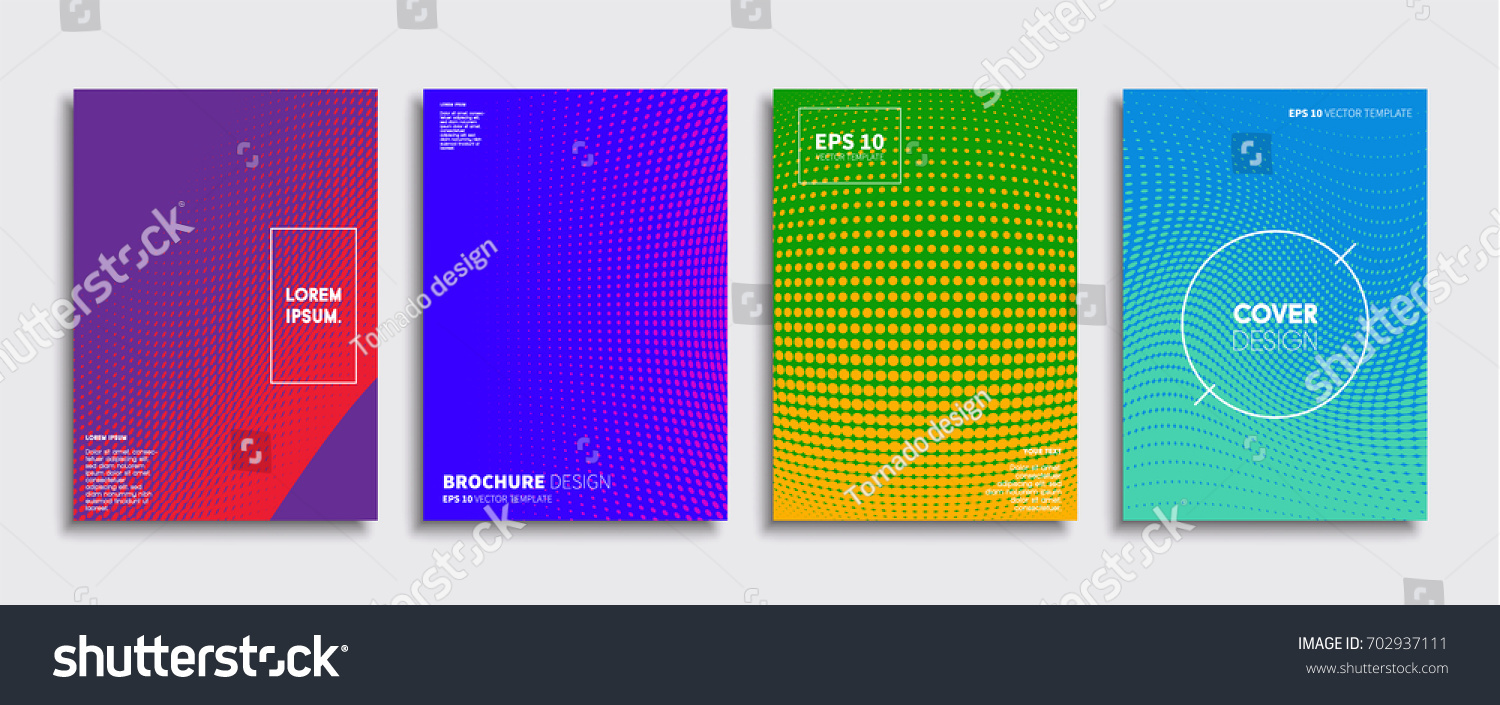 915bc4746f Minimal Vector covers design. Cool halftone gradients. Future Poster  template.
