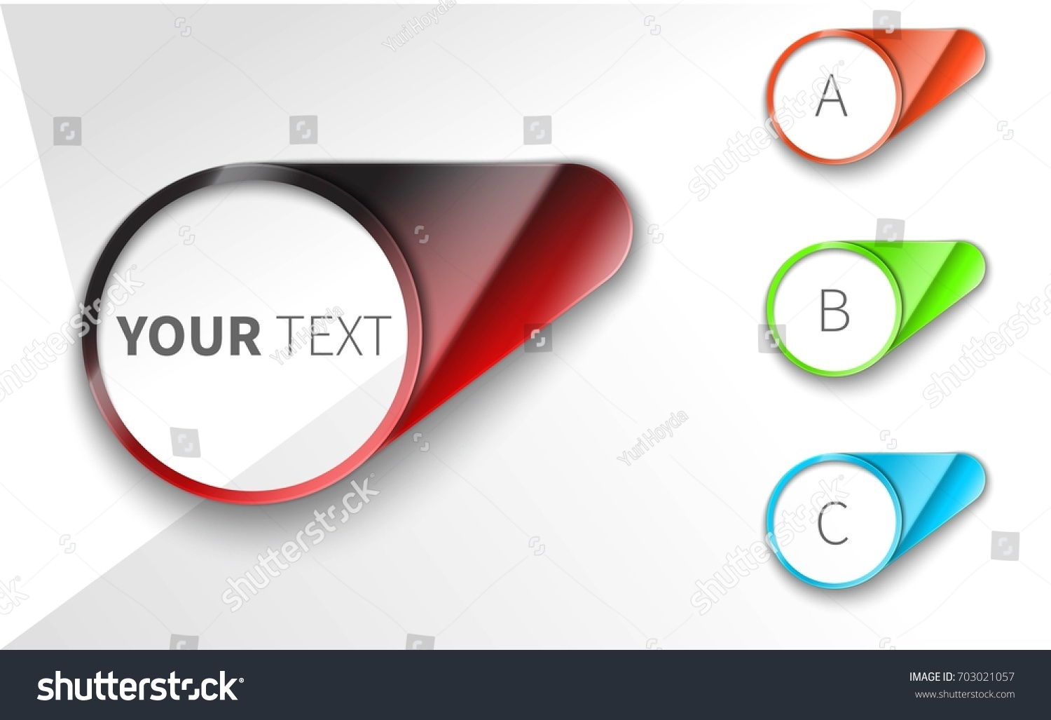 Modern Vector Steps Progress Banners Colorful Stock Vector 703021057 ...