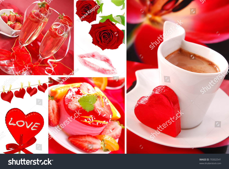 Valentines party love symbols photos arranged stock photo 70302541 valentines party and love symbols photos arranged as collage biocorpaavc