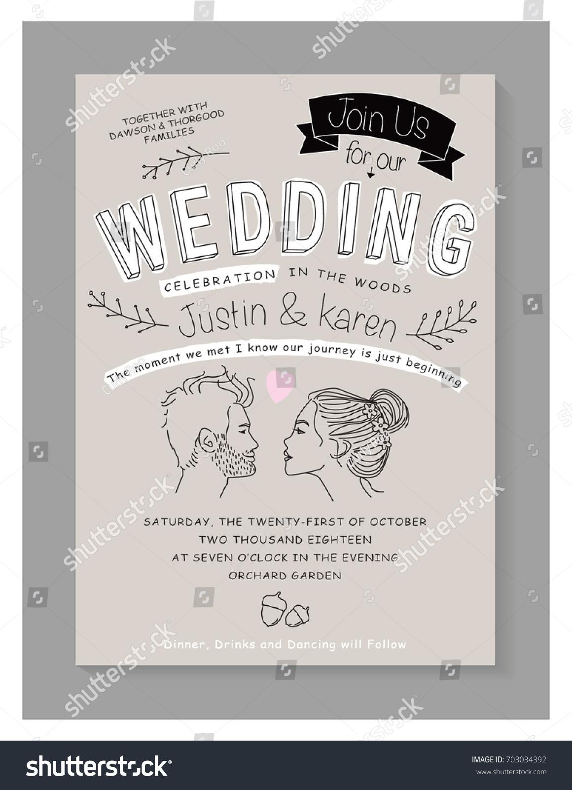 WEDDING INVITATION CARD DESIGN Editable Vector Stock Photo (Photo ...