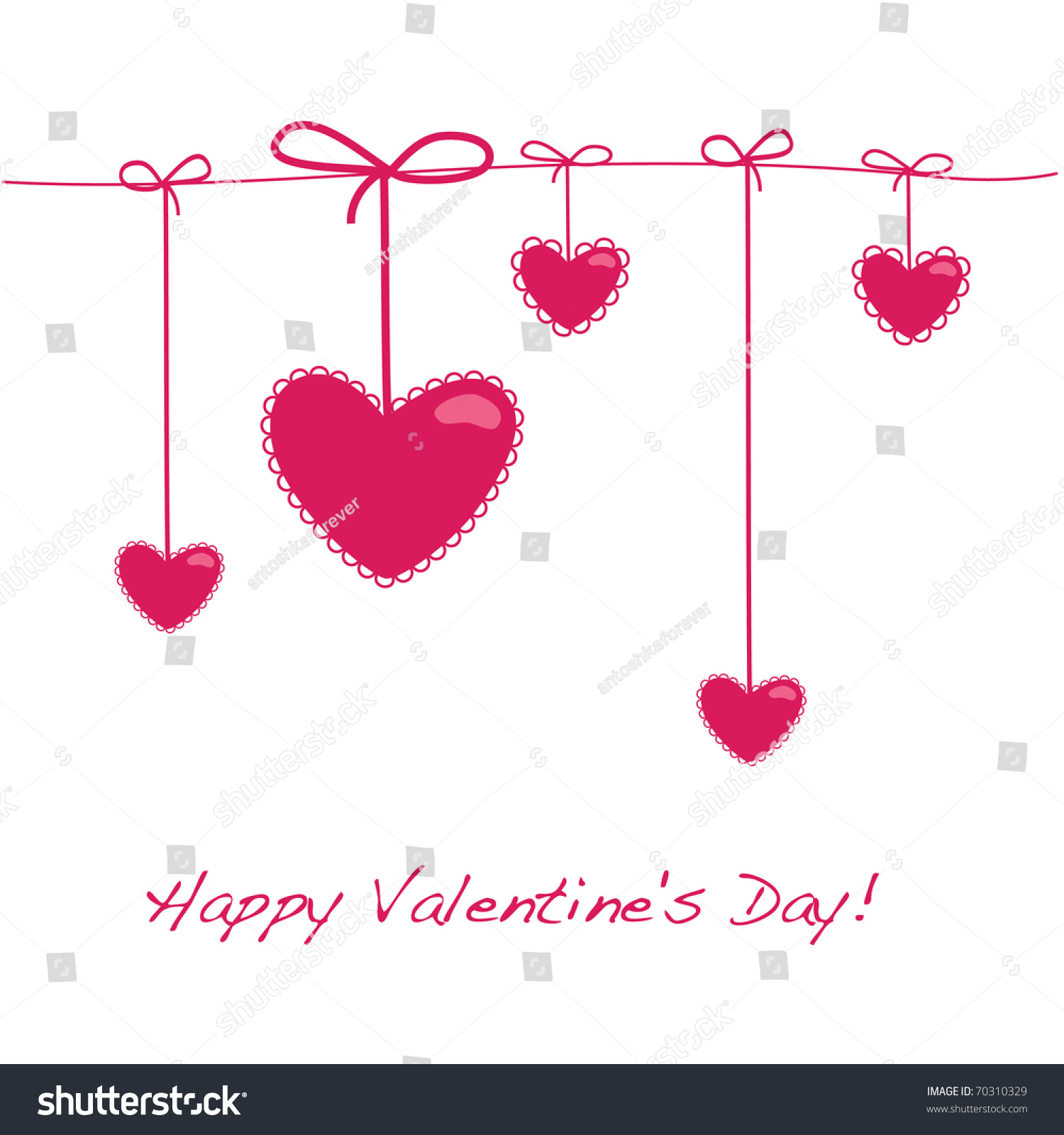 Card Layout Valentines Day 5 Hearts Vector 70310329 – Valentine Card Layouts