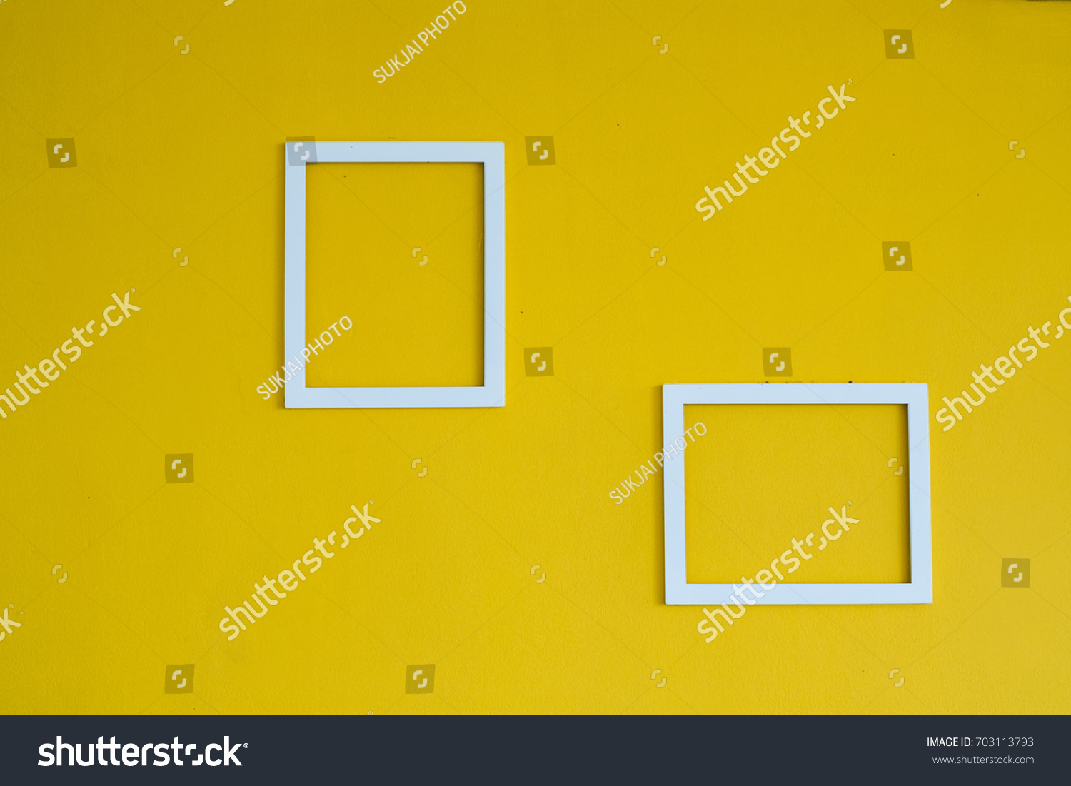 Two Blank White Square Frames On Stock Photo (Royalty Free ...