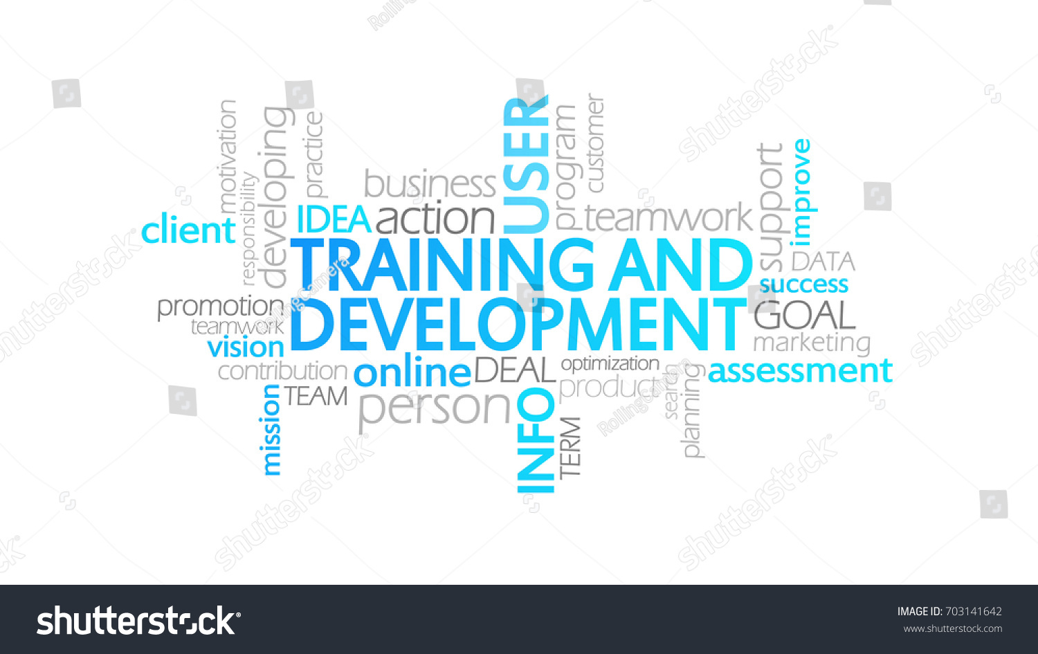 training development typography infographic clipart stock