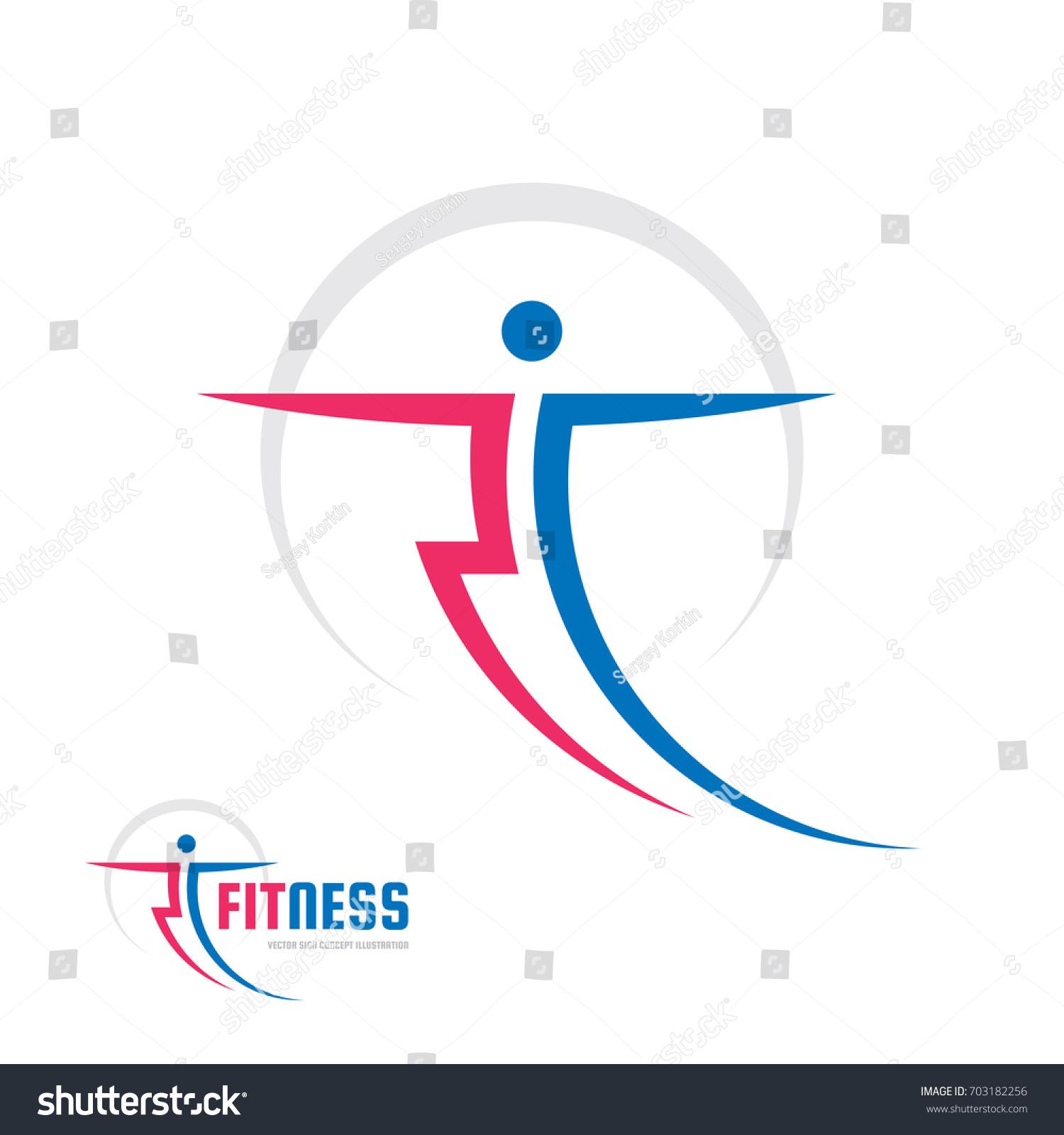 fitness sport vector logo template concept stock vector 703182256