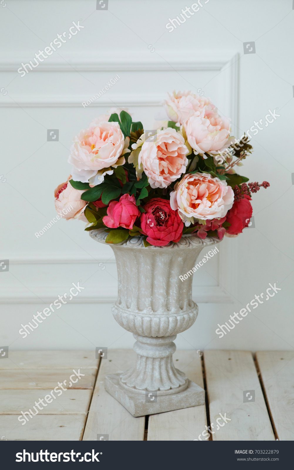 Beautiful artificial fake flowers vase on stock photo 703222879 beautiful artificial fake flowers in vase on white background reviewsmspy