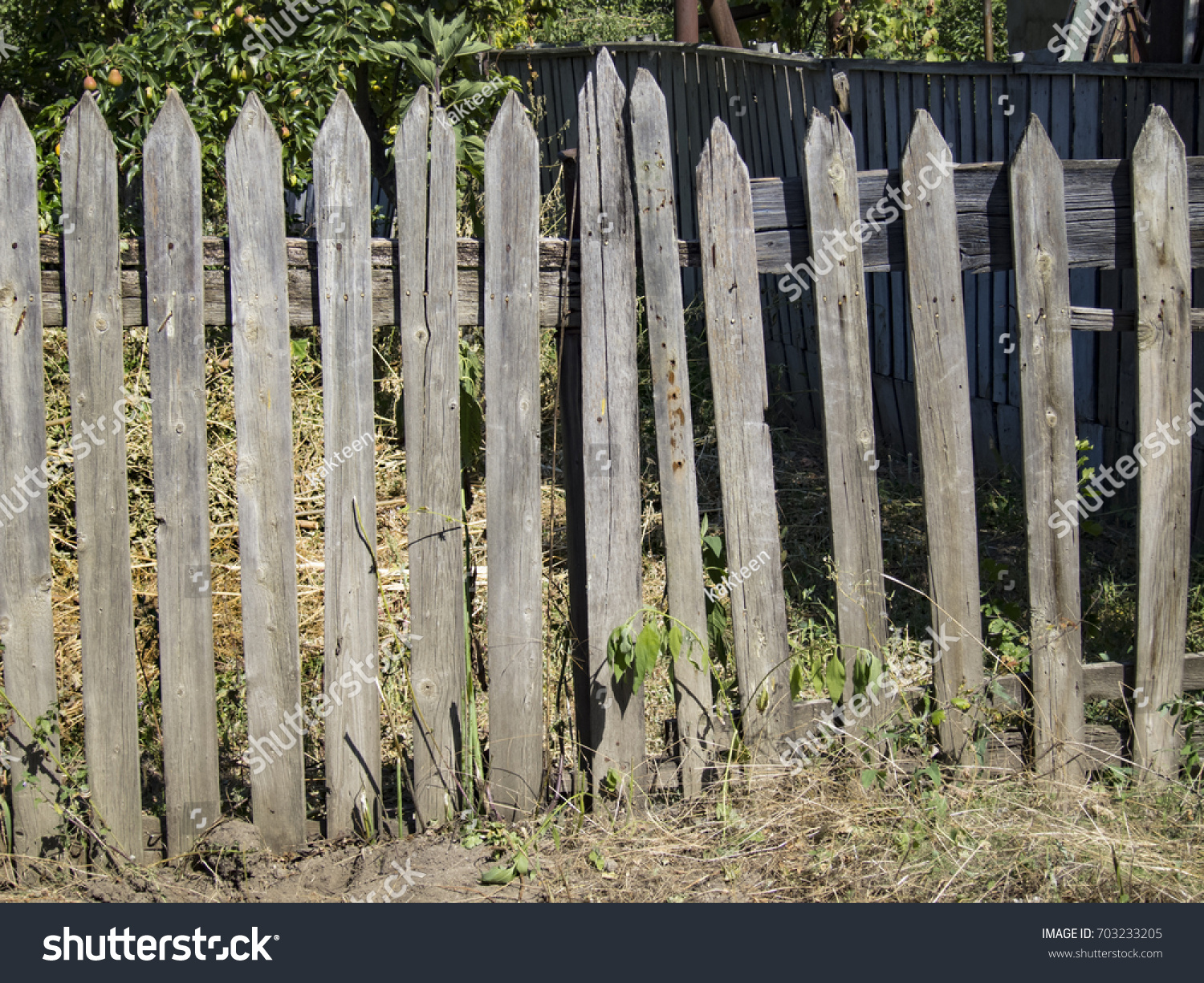 wood picket fence texture. Old Village Fence Rickety Wooden Stock Photo (Royalty Free) 703233205 - Shutterstock Wood Picket Texture