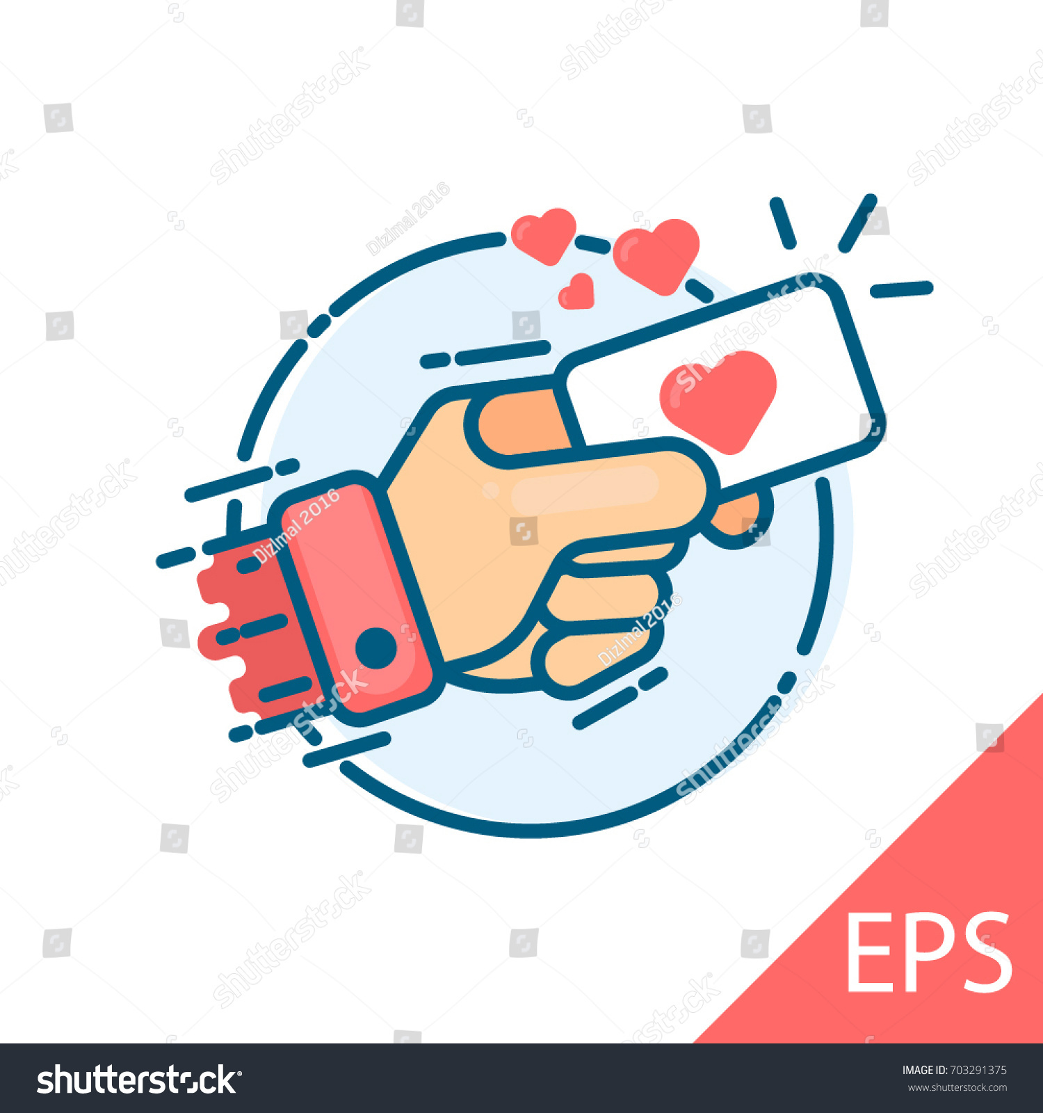 Hand business card sign heart vector stock vector 703291375 hand with business card sign heart vector modern line design illustrative icon magicingreecefo Images