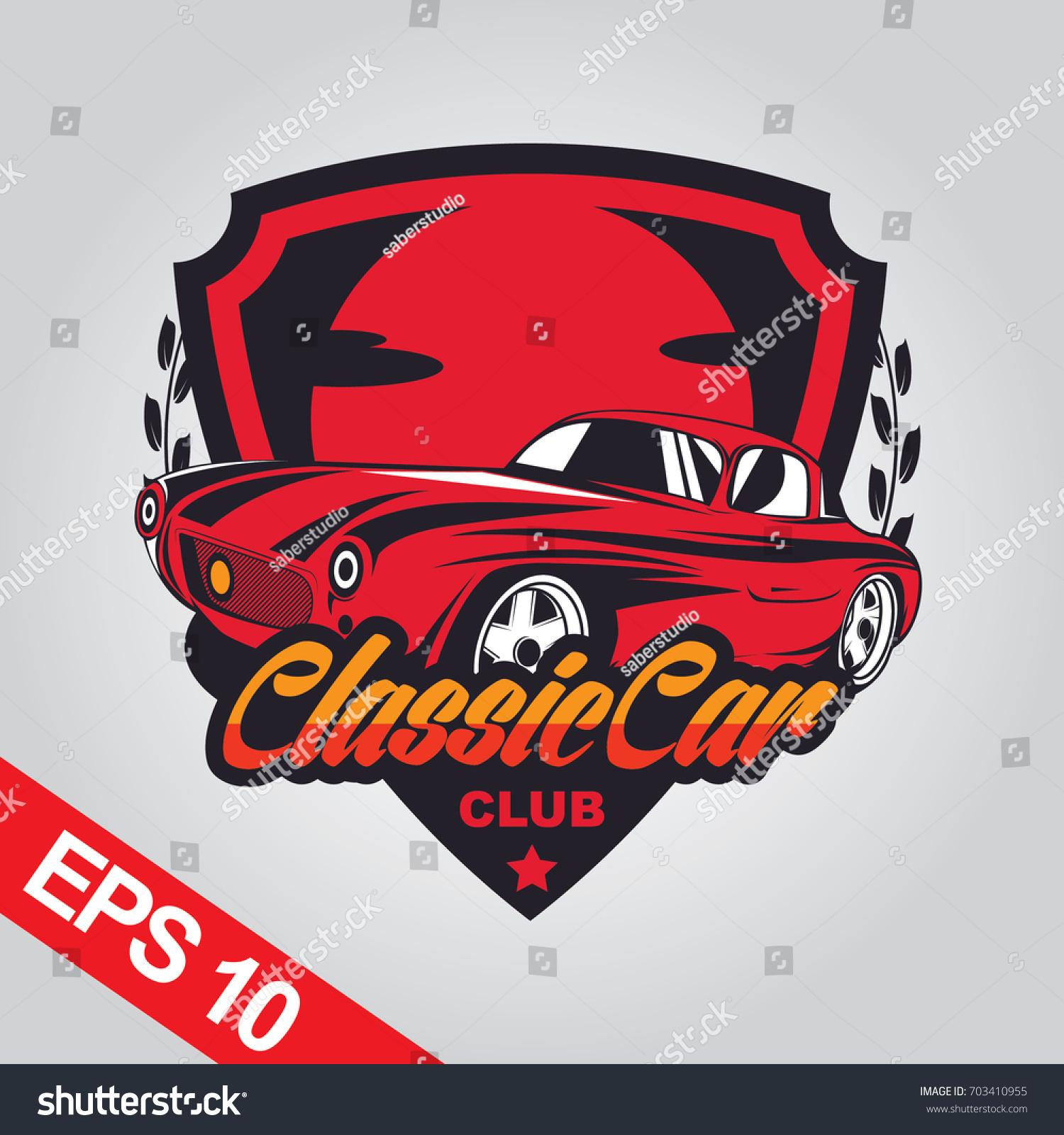 Classic Car Logo Template Vectores En Stock 703410955 - Shutterstock