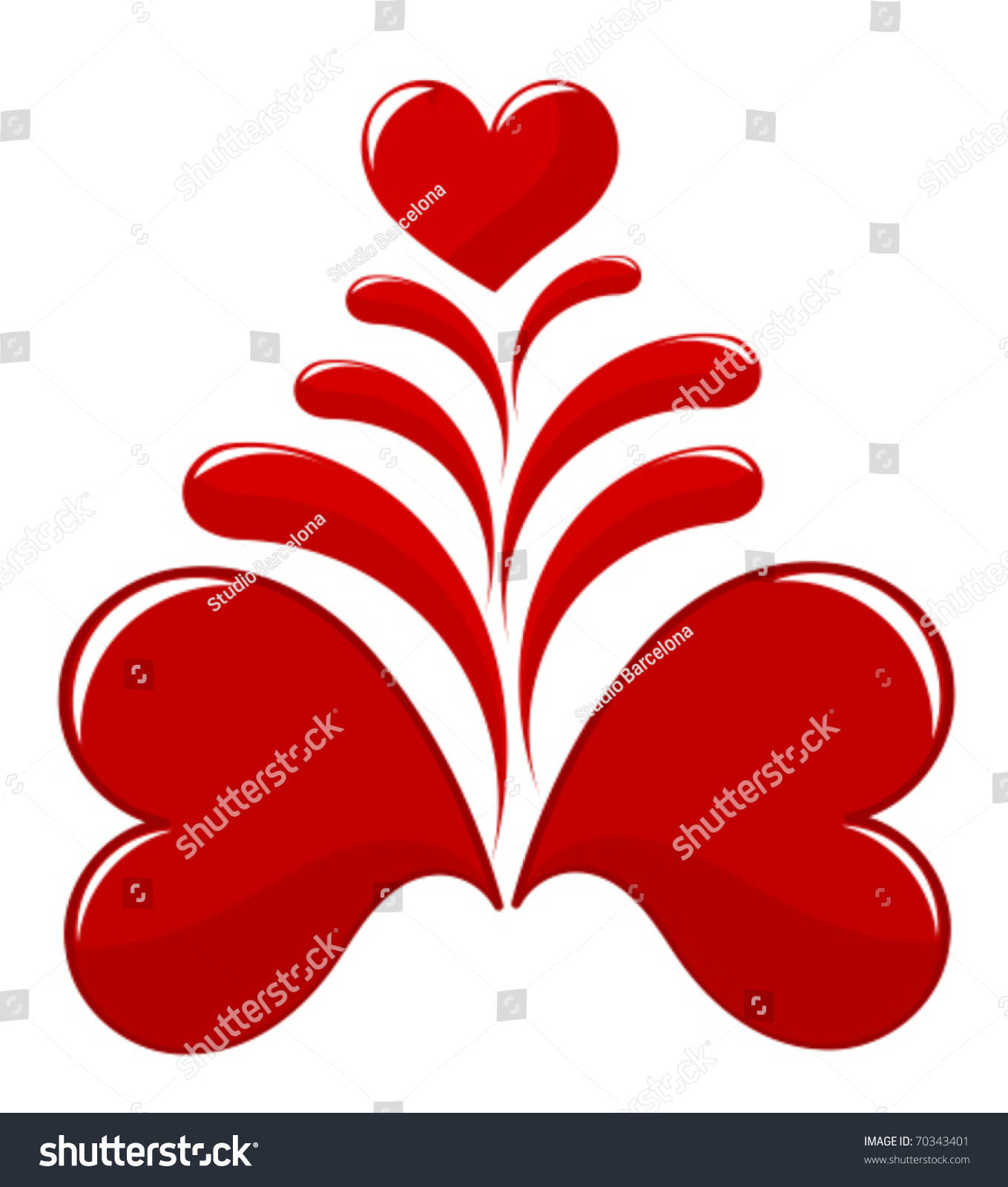 Valentine bleeding hearts stock vector 70343401 shutterstock valentine bleeding hearts buycottarizona