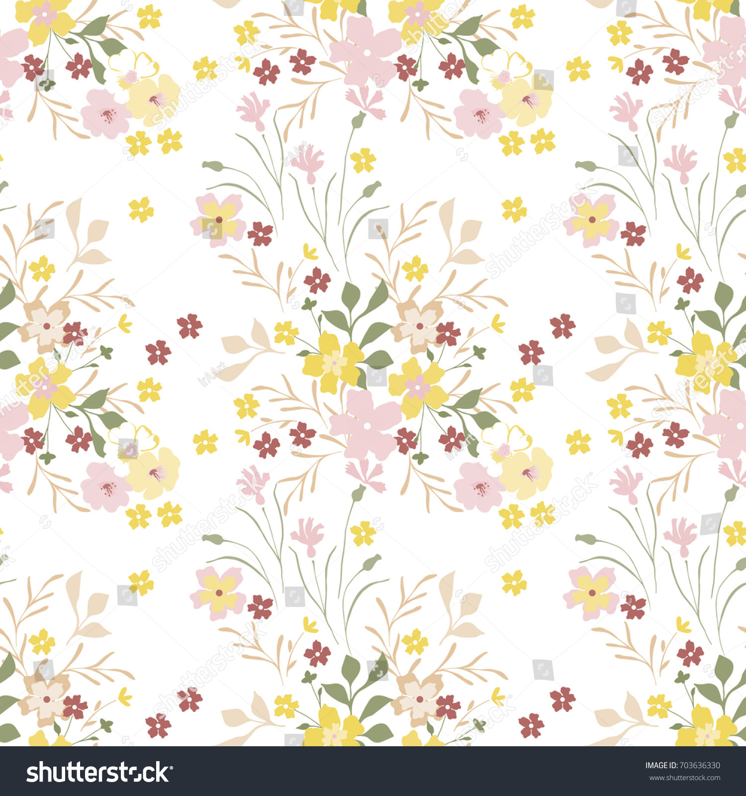 Vintage floral pattern cute small flowers for design fabric paper id 703636330 mightylinksfo