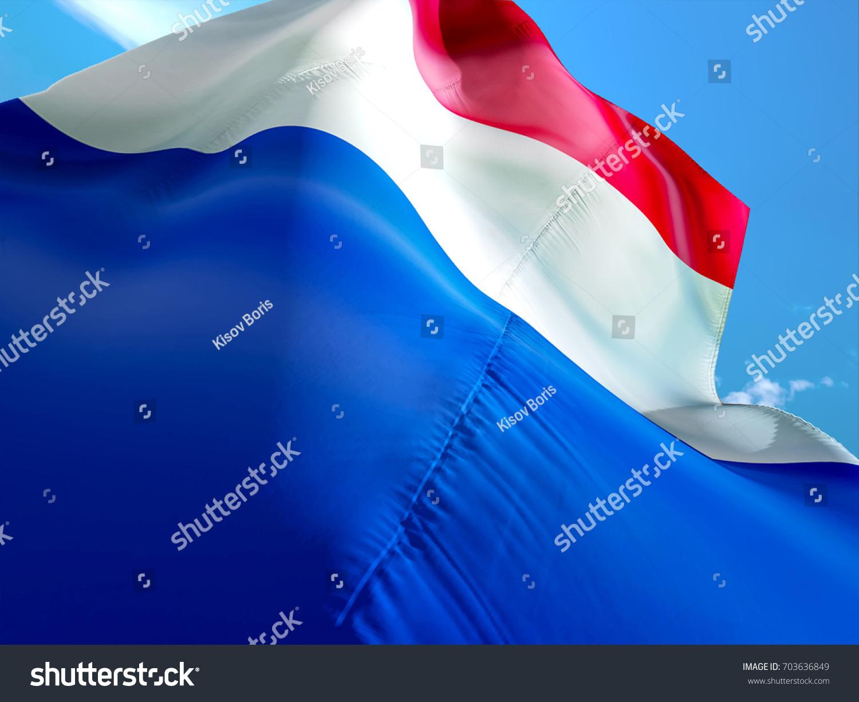 french flag flag france 3d waving stock illustration 703636849