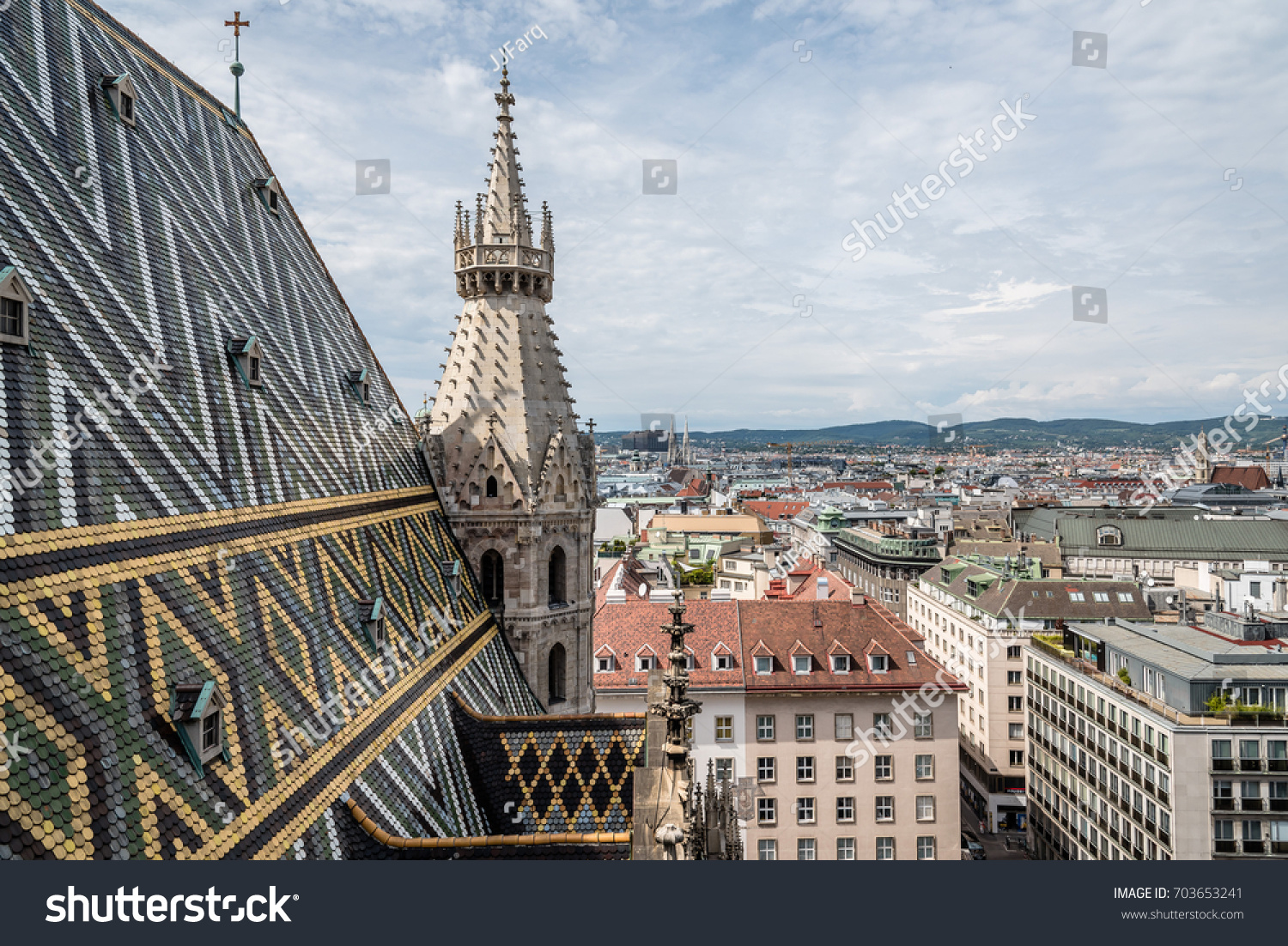 Panoramic View Vienna Roof Cathedral St Stock Photo Edit Now