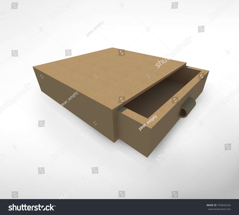 Mockup square paper craft box on stock illustration 703692634 mock up square paper craft box on isolated white background 3d illustration jeuxipadfo Gallery