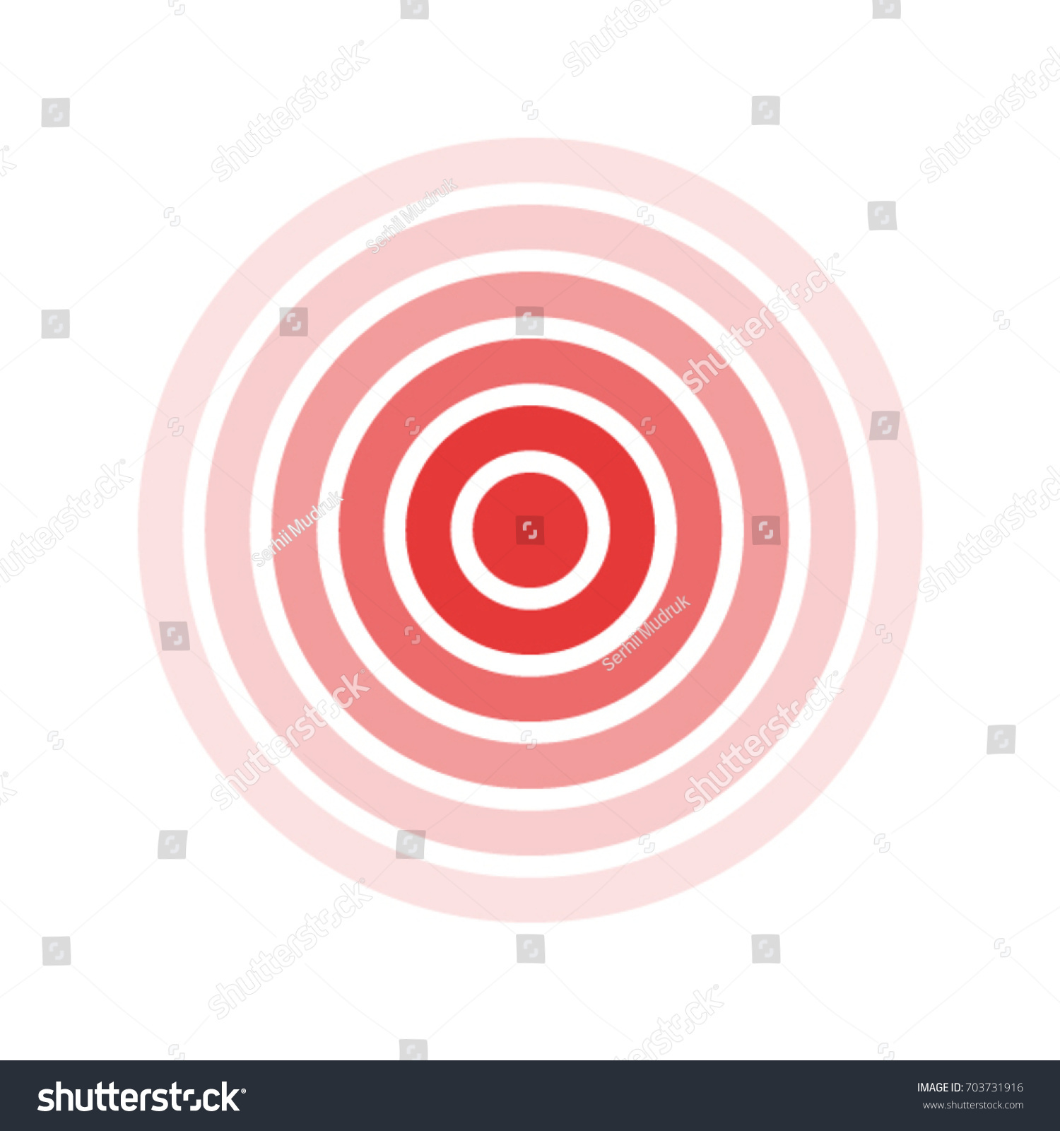 Isolated Bold Vector Red Ring Pain Stock Vector Royalty Free