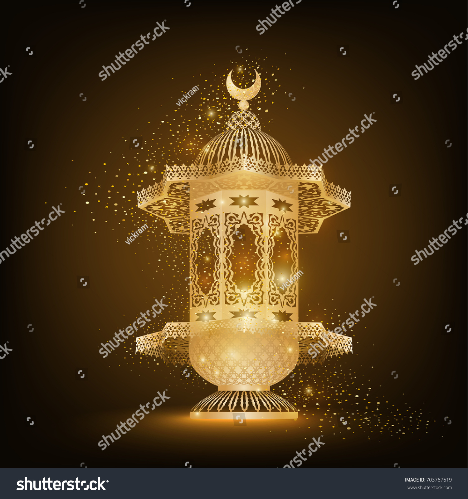 with vector image lettering stock background ramadan greeting of for arabic typographic lamp kareem card illustration