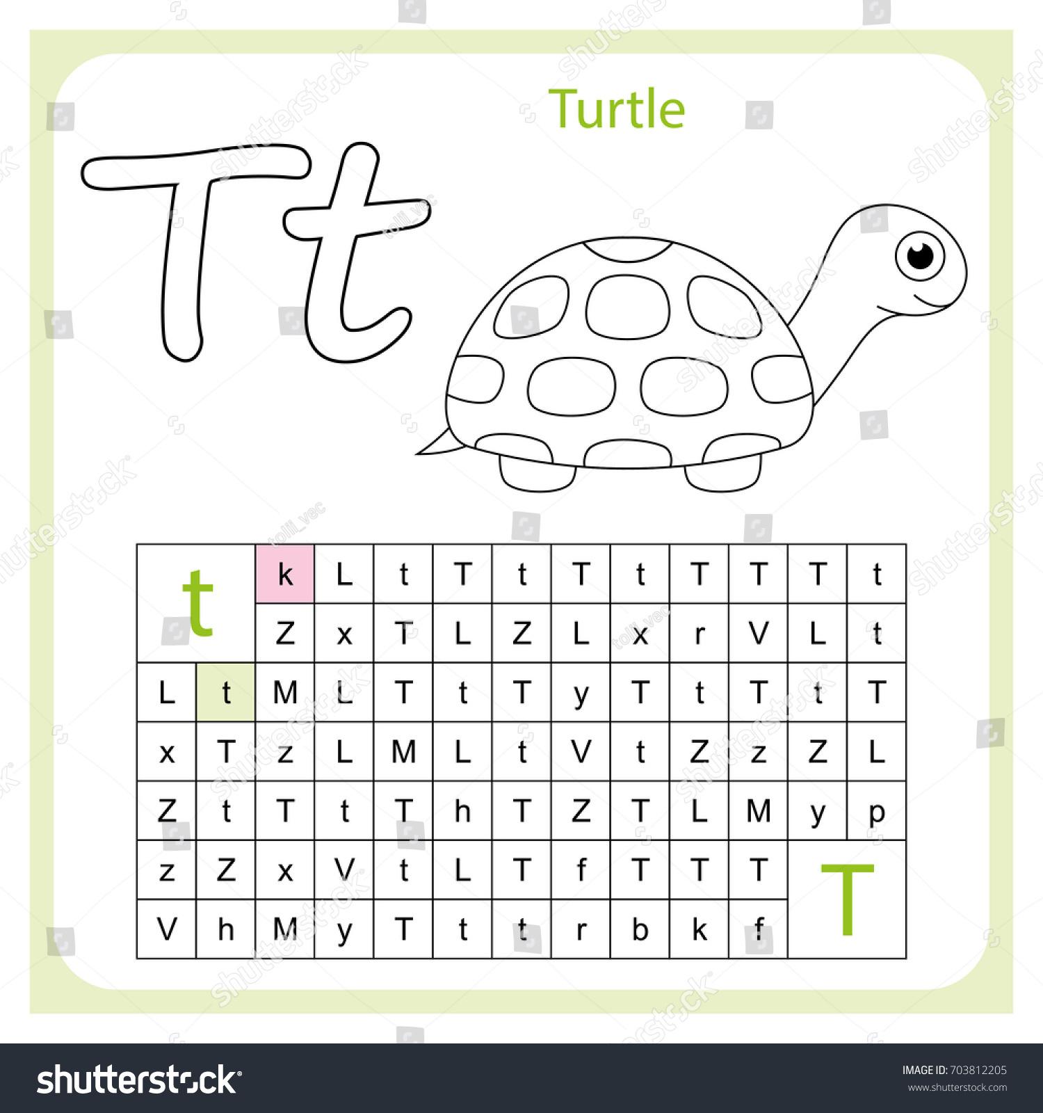 Worksheet Learning Alphabet Worksheet Preschool Children Stock