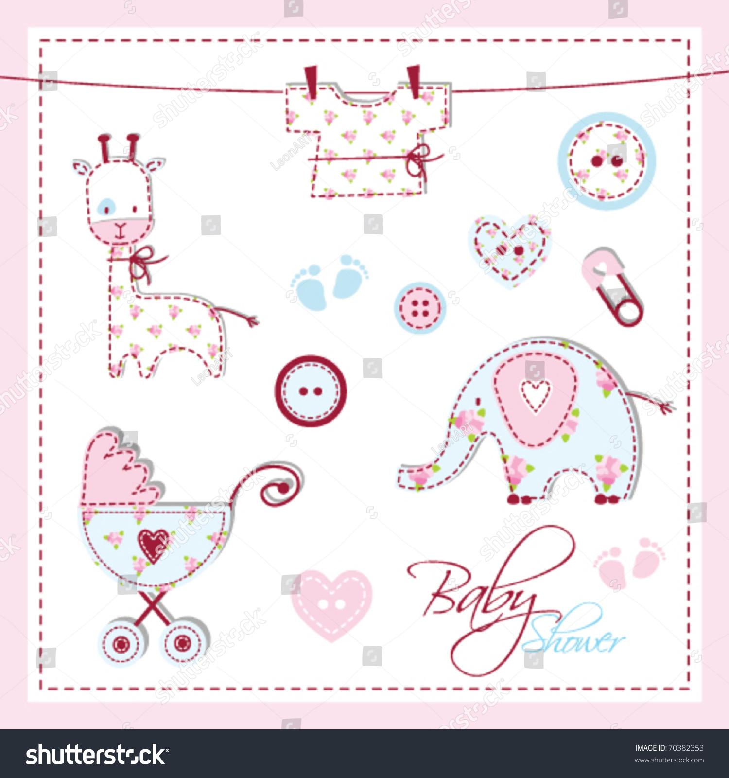 Royalty Free Scrapbook Design Elements Baby Shower 70382353 Stock