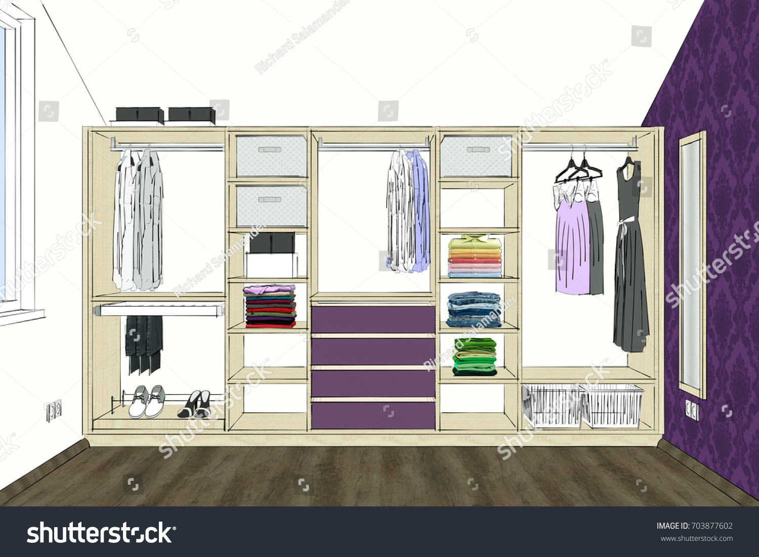 Front view there is also clothes and decorations modern furniture design home design software programs project management illustration