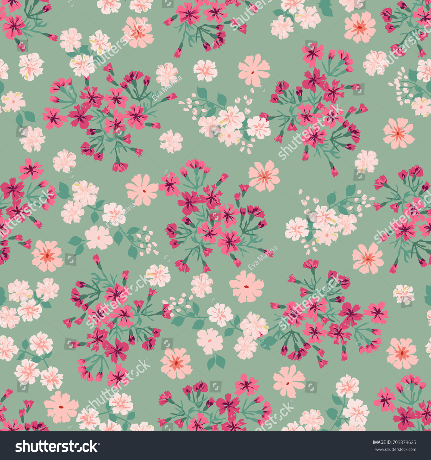 Cute Book Cover Background : Simple cute pattern small flower liberty stock vector