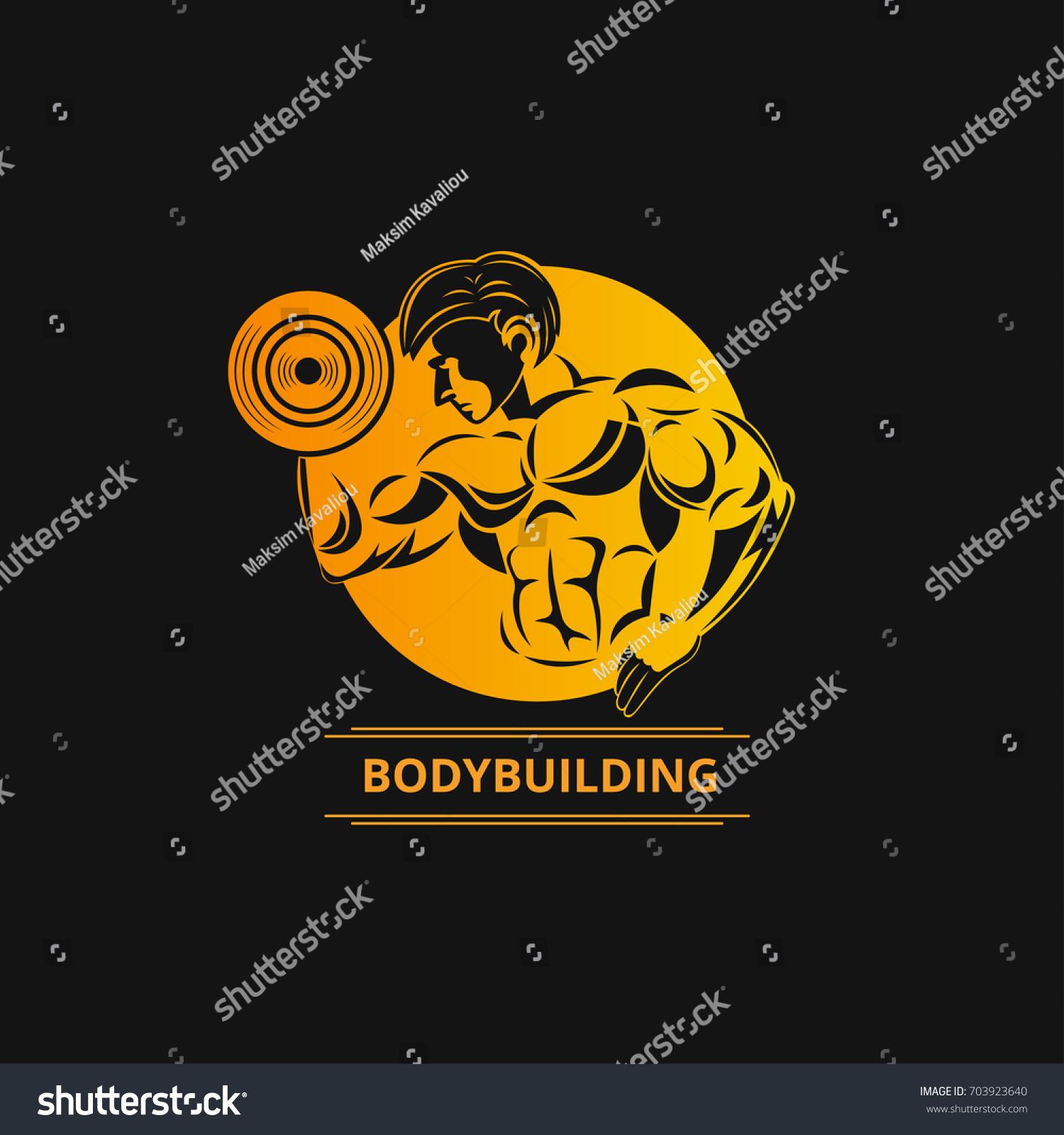 Icons fitness bodybuilder vector logo stock vector 703923640 icons for fitness bodybuilder vector logo buycottarizona Choice Image
