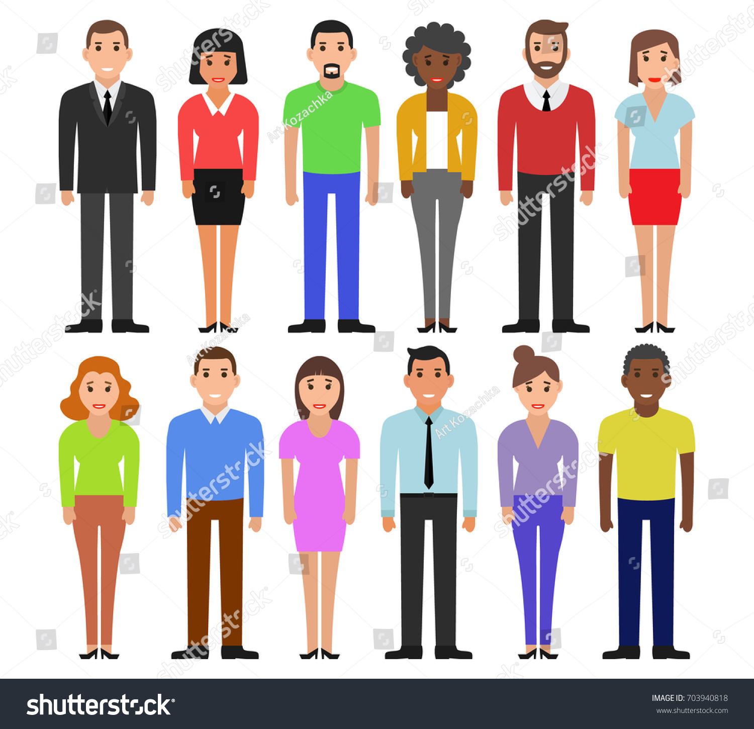 group working people standing on white stock vector