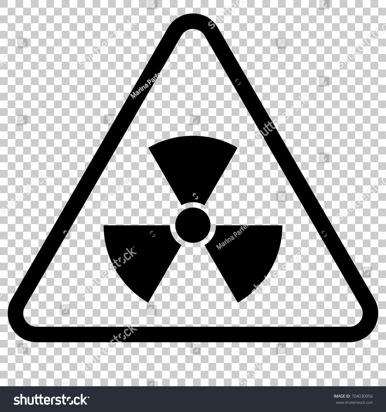 Radiation Hazard Sign Symbol Radioactive Threat Stock Vector