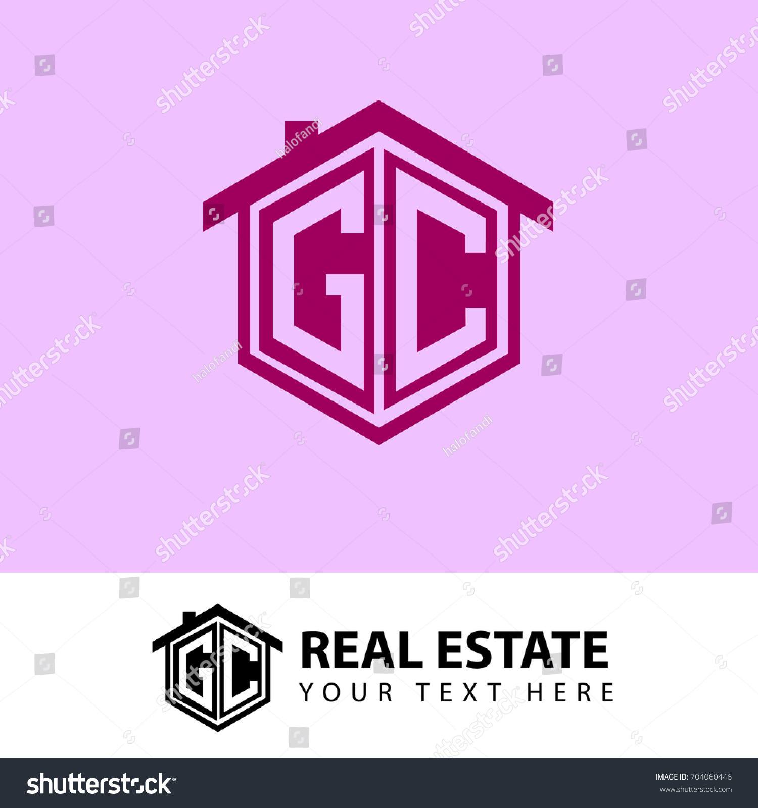 Initial Letter G C GC Logo Stock Vector (Royalty Free) 704060446 ...