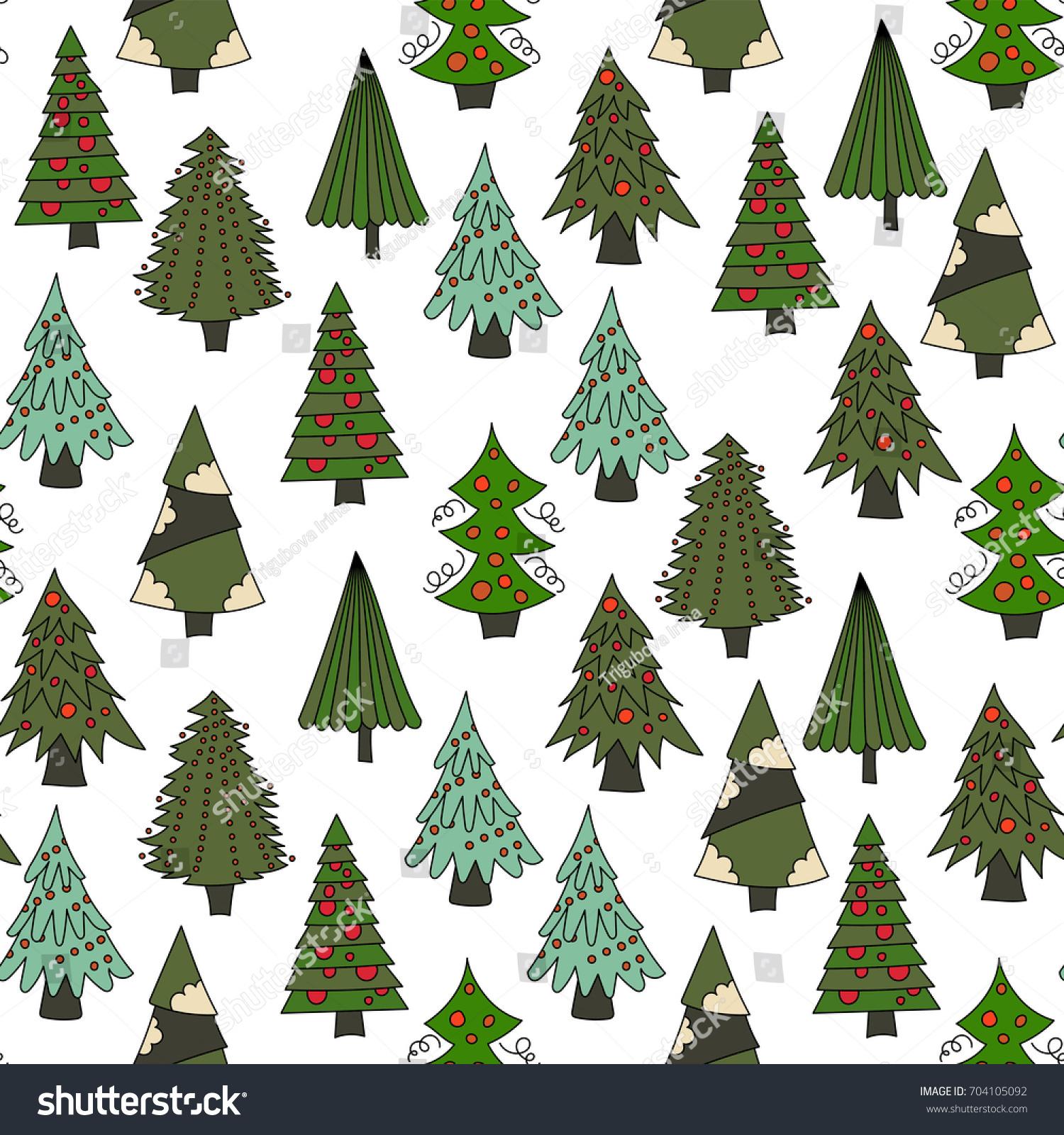 Vector Christmas Seamless Pattern Color Cartoon Stock Vector HD ...