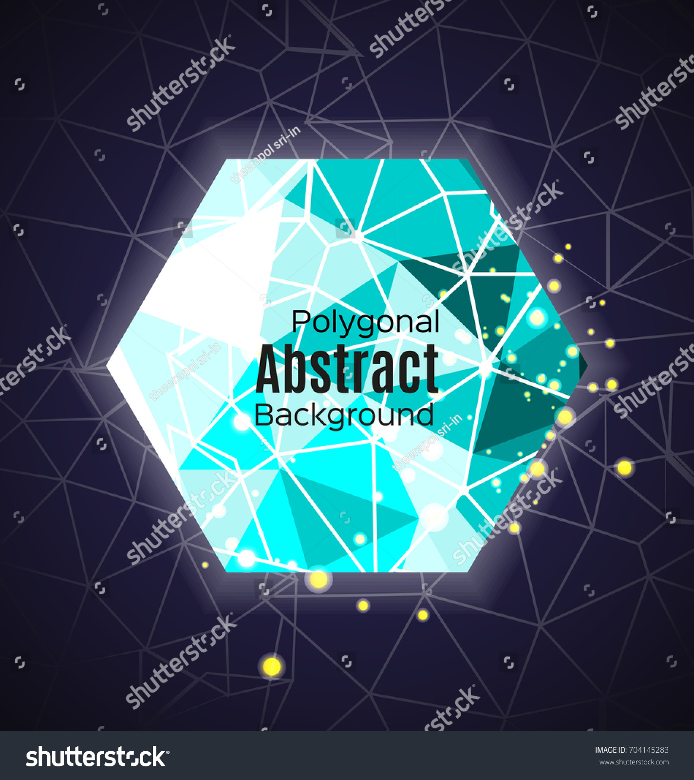 Dark Background Connecting Dots Lines Light Stock Vector 704145283 ...
