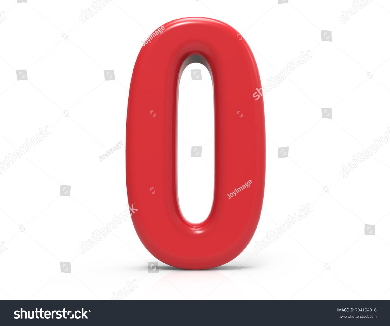 Red Letter O 3 D Rendering Plastic Stock Illustration 704154016