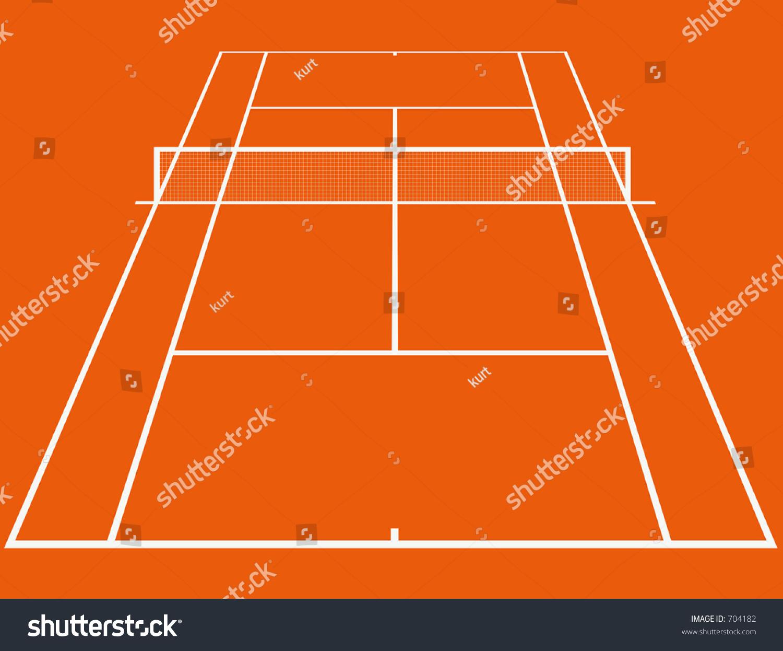 Gravel Tennis Court Stock Illustration 704182 Shutterstock