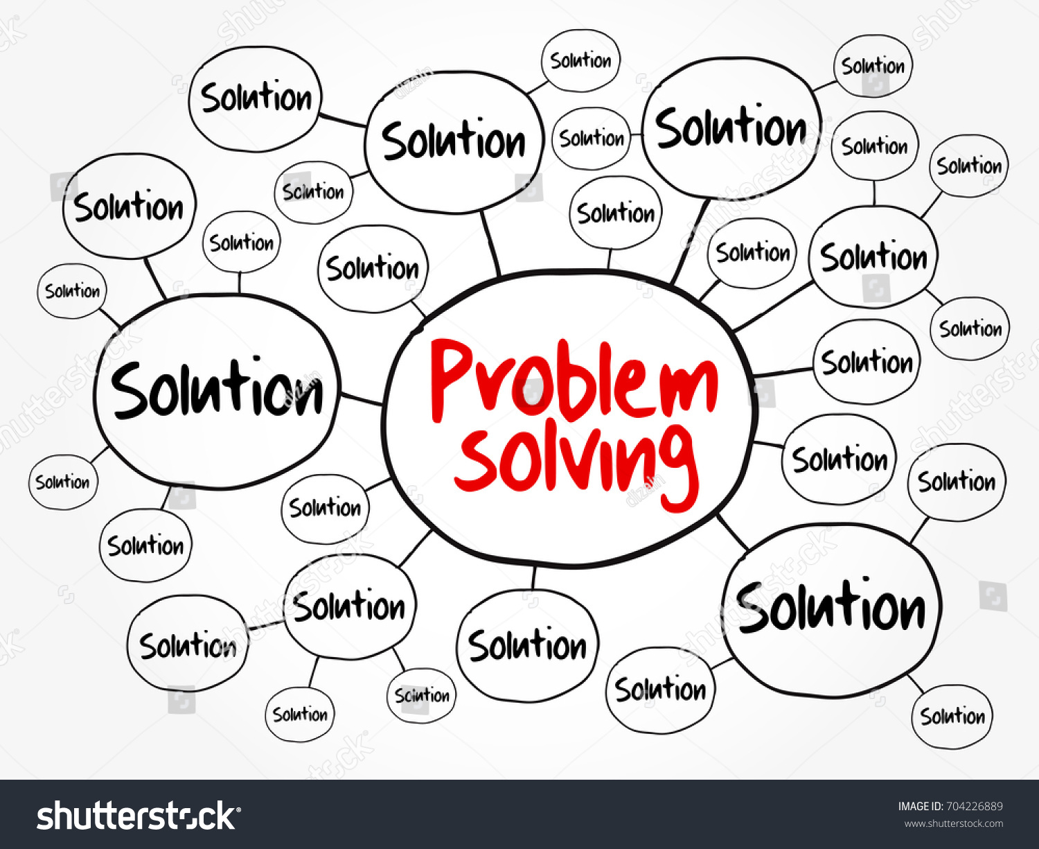 Problem solving aid mind map flowchart stock vector 704226889 problem solving aid mind map flowchart business concept for presentations and reports nvjuhfo Choice Image